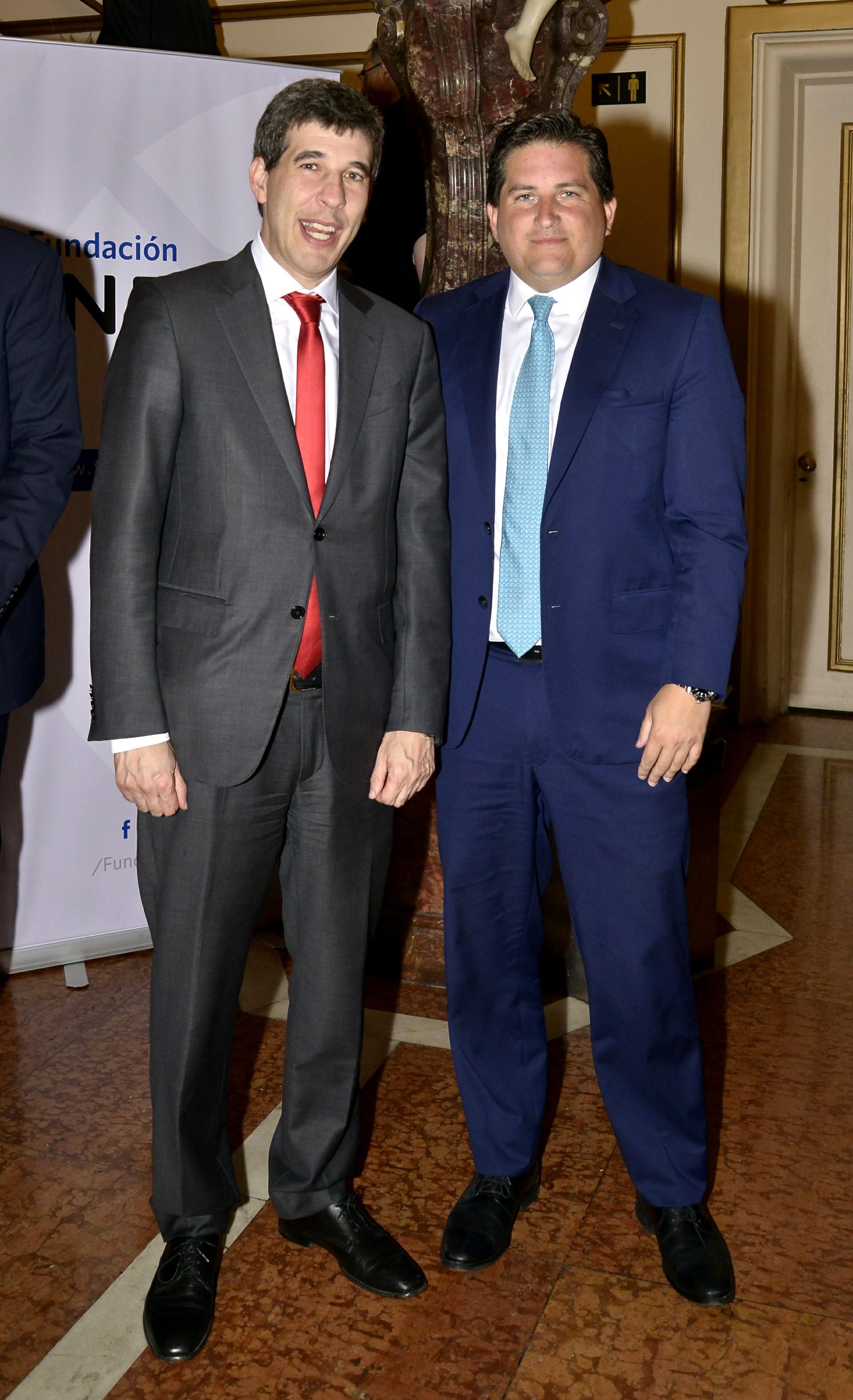 El CEO del Grupo Sancor Seguros, Alejandro Simón, junto a Gastón Corral, relaciones institucionales del Grupo Sancor Seguros