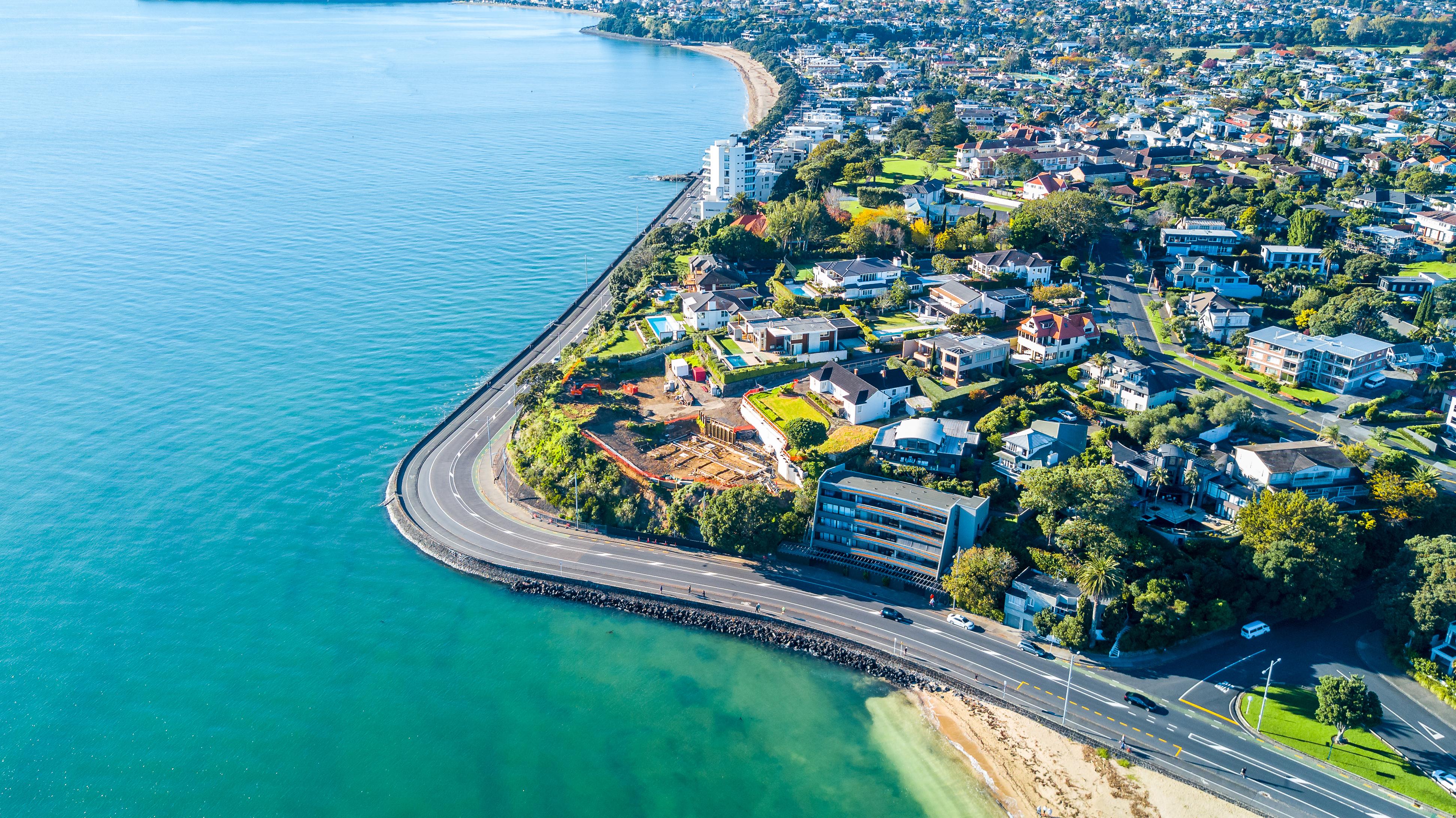 Por mucho, la ciudad más grande de Nueva Zelanda, el puntaje general de Auckland bajó de 9.0 a 8.6 en 2020 (Shutterstock)