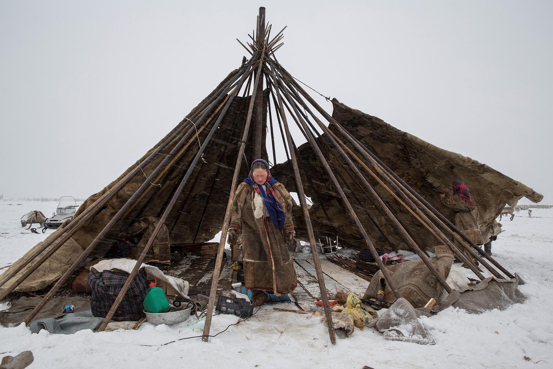 Mujeres de la tribu nómade de Nenets, en el ártico ruso. Evgenia Arbugaeva