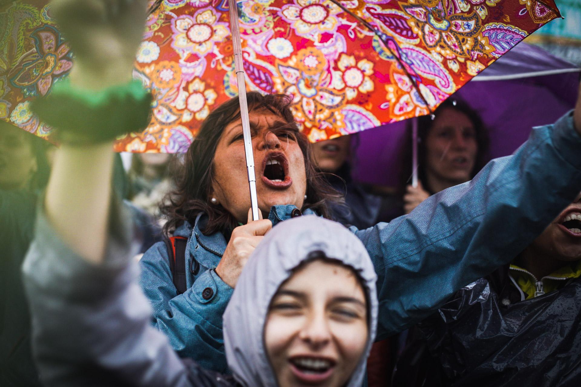 La primera jornada del ENM se vio atravesada por intensas precipitaciones