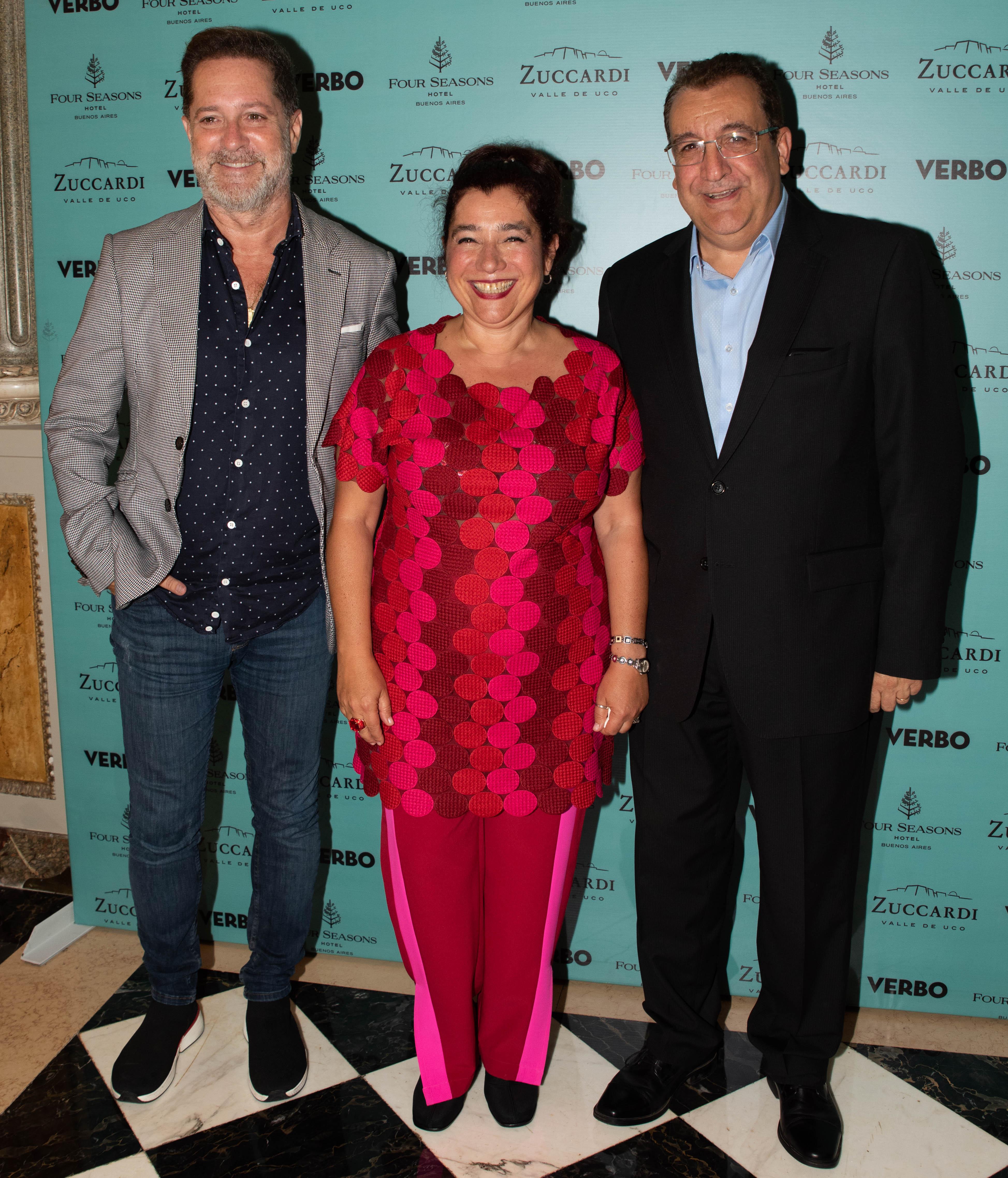 Mariela Ivanier junto a Paul Kirzner y Roberto Lorenzi, gerente de Administración y Finanzas de Polka