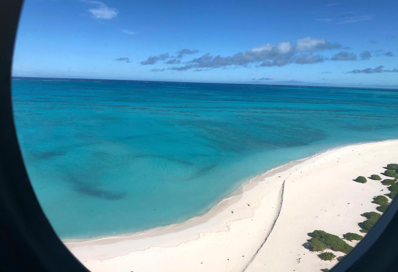 El atolón de Midway desde el aire