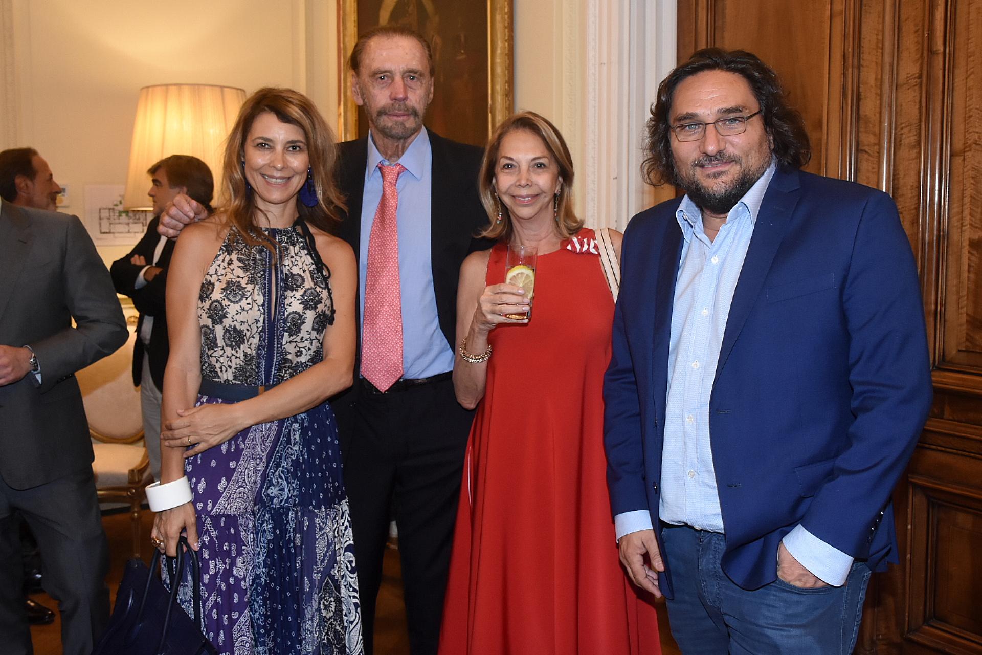 Adriana Batan de Rocca junto a Víctor Bo y Martín Kweller