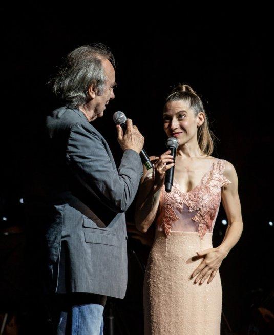 Elena Roger también se presentó junto al Sistema de Orquestas Juveniles e Infantiles de Jujuy, con la dirección de Sergio Jurado