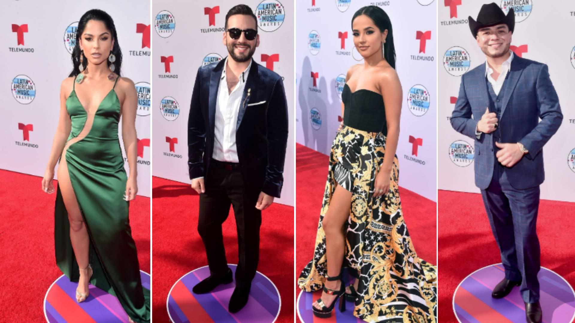 Las celebridades en los Latin American Music Awards 2019 (Foto: Telemundo Internacional @telemundointl)