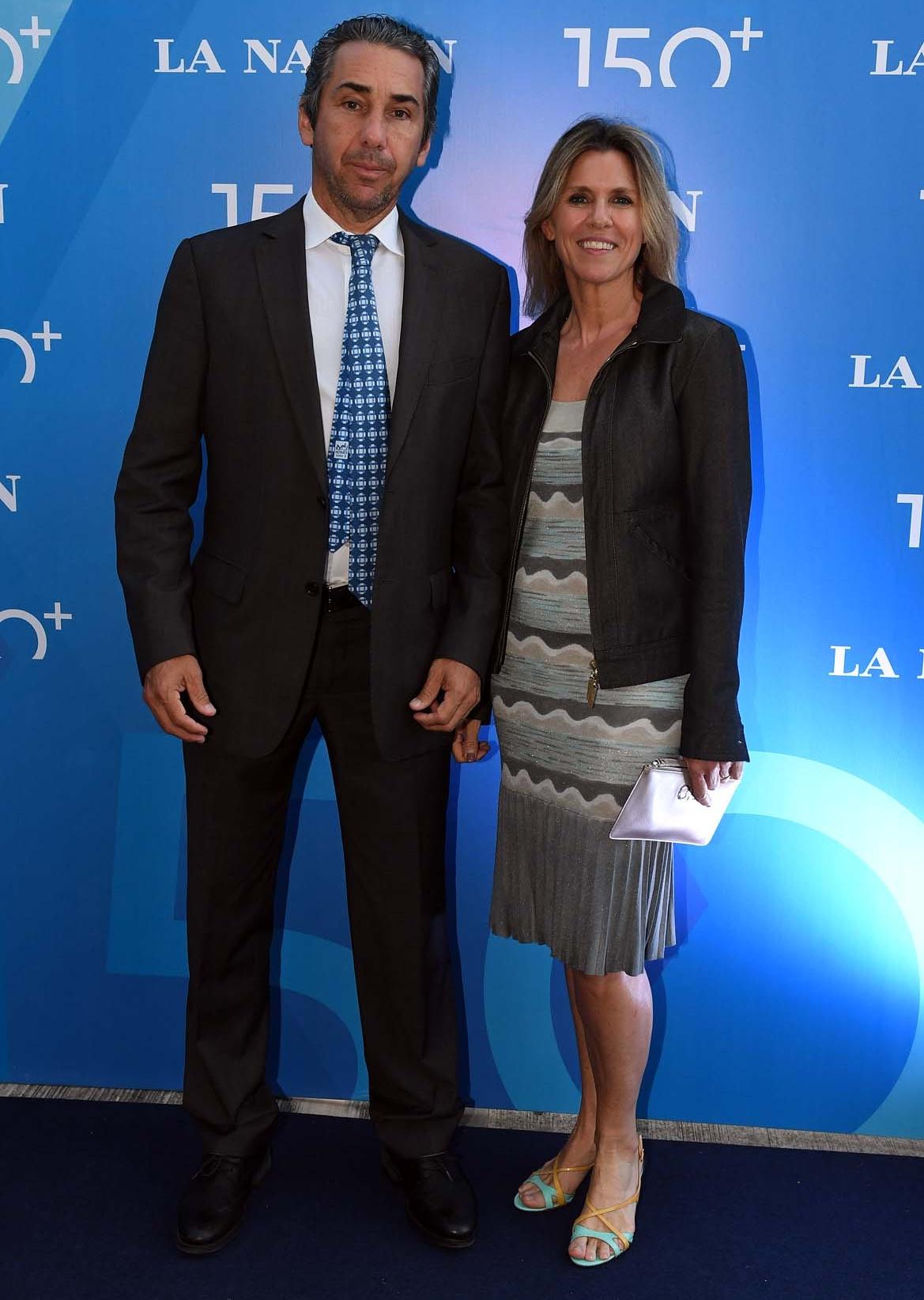 Dicky Smith Estrada y su mujer, Gloria Confalonieri