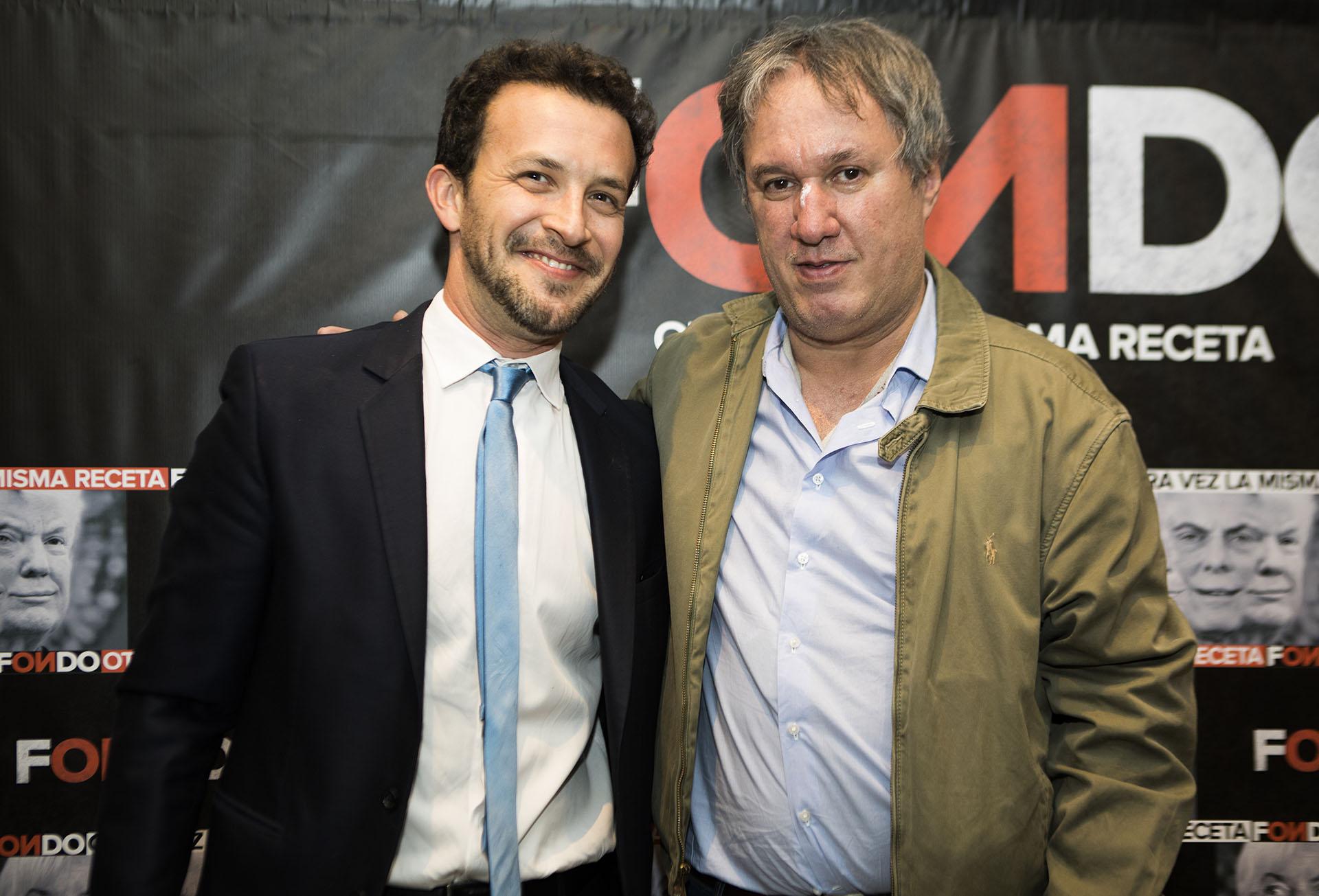 Bercovich junto al ex ministro Miguel Peirano