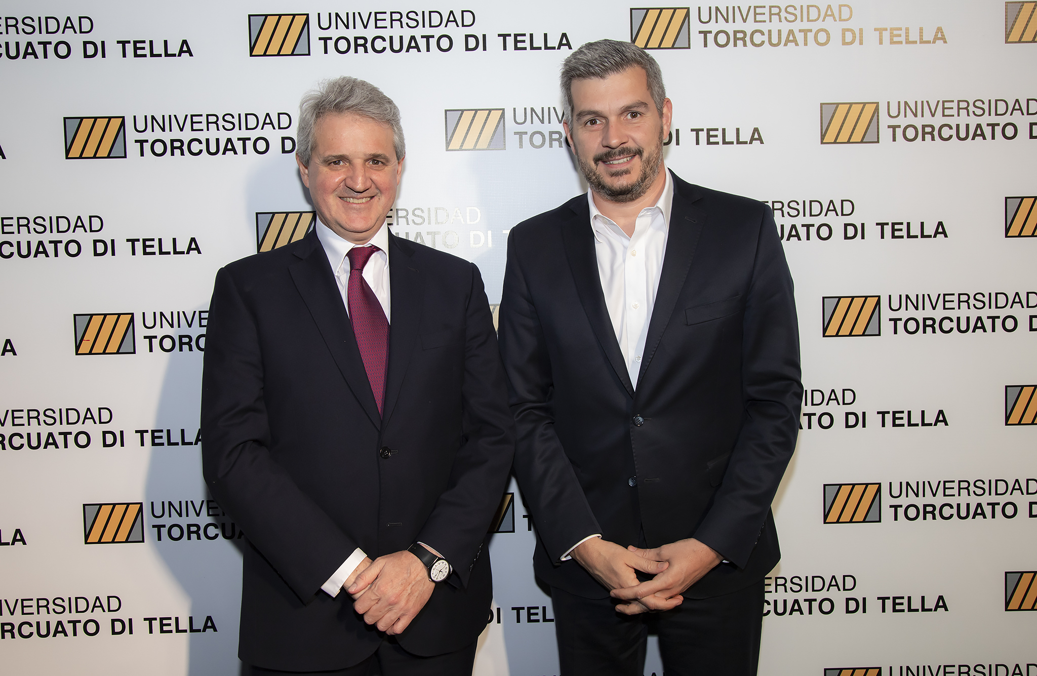 Juan José Cruces y el jefe de Gabinete, Marcos Peña