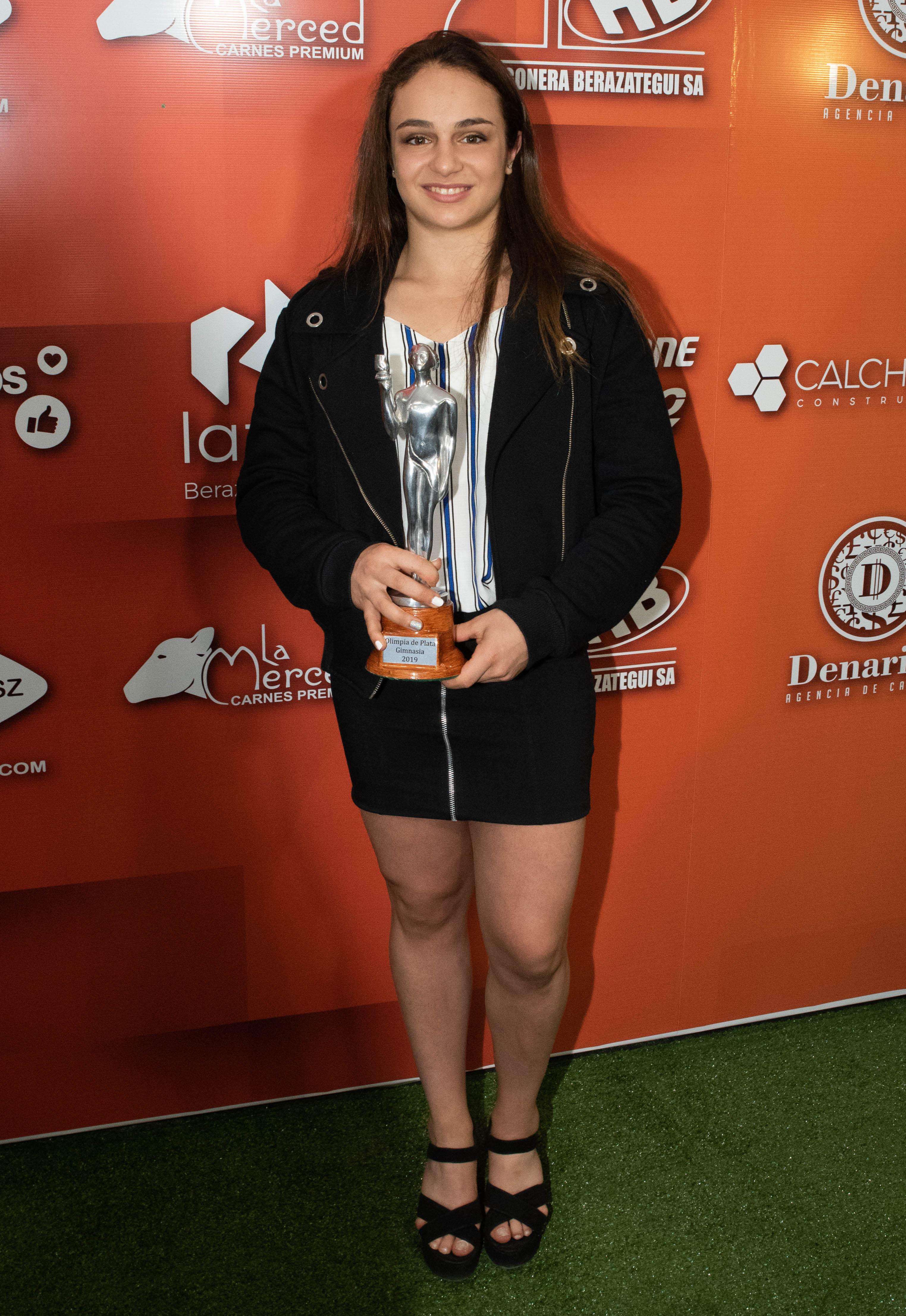 Martina Dominici ganó el premio en gimnasia.