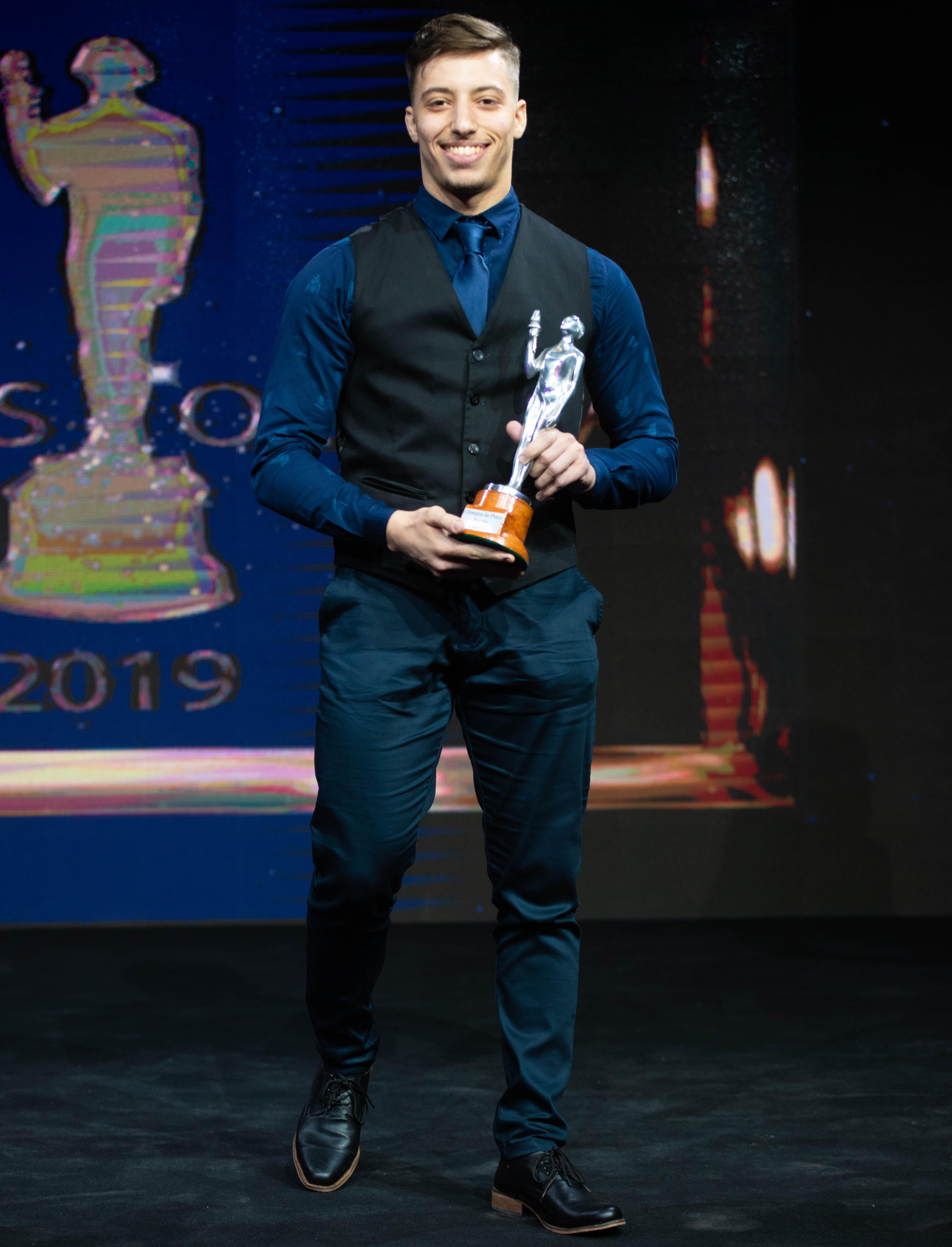 Luca Impagnatiello se adjudicó el premio en karate.