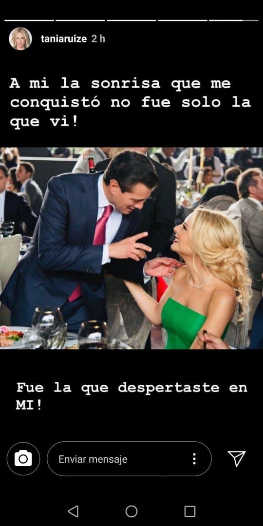 Éste fue el primer mensaje que difundió Tania sobre su relación con Peña Nieto, quien hasta el momento no ha expresado nada de manera pública. (Foto: Instagram)