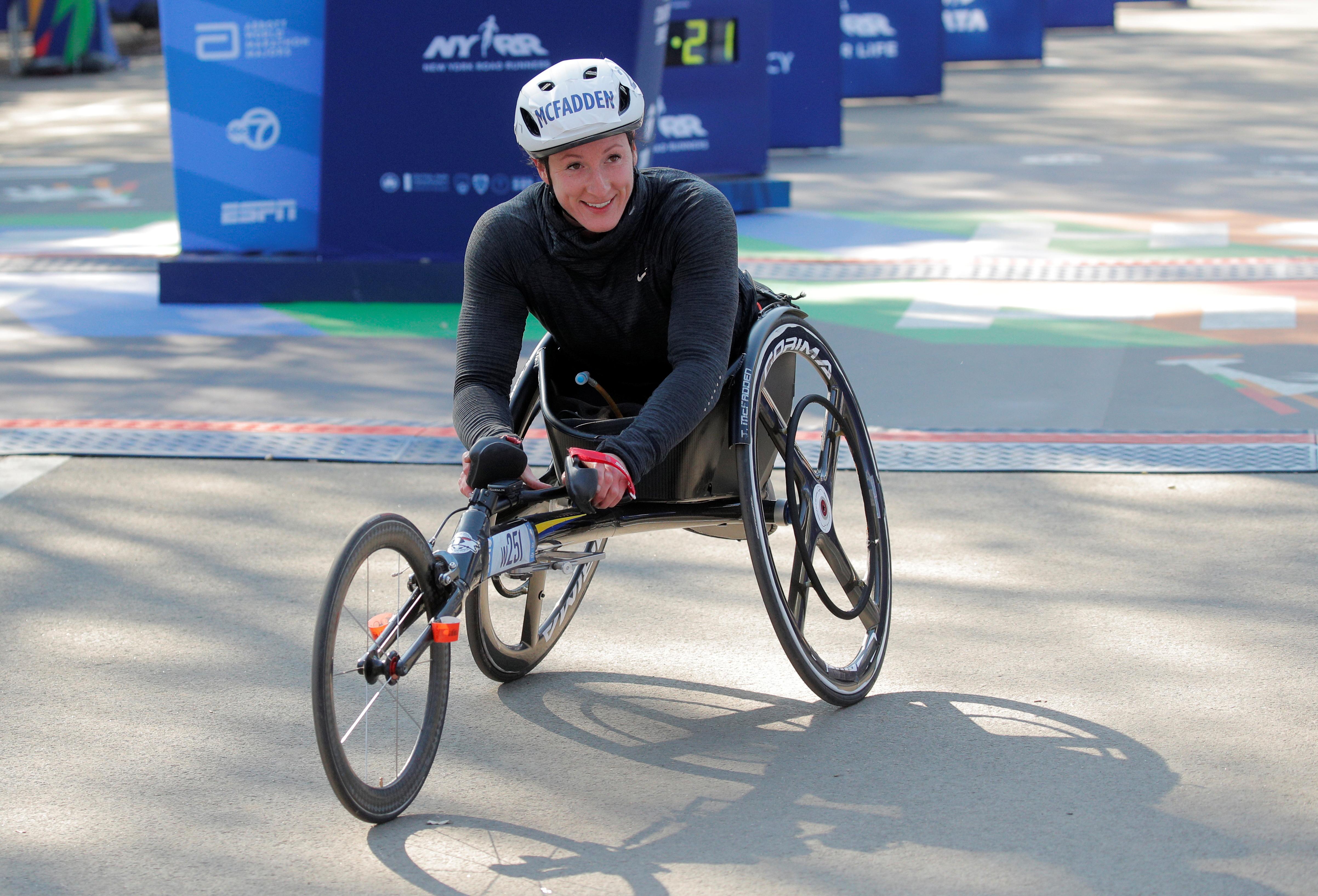 atyana McFadden acabó segunda en la categoría femenina sobre silla de ruedas