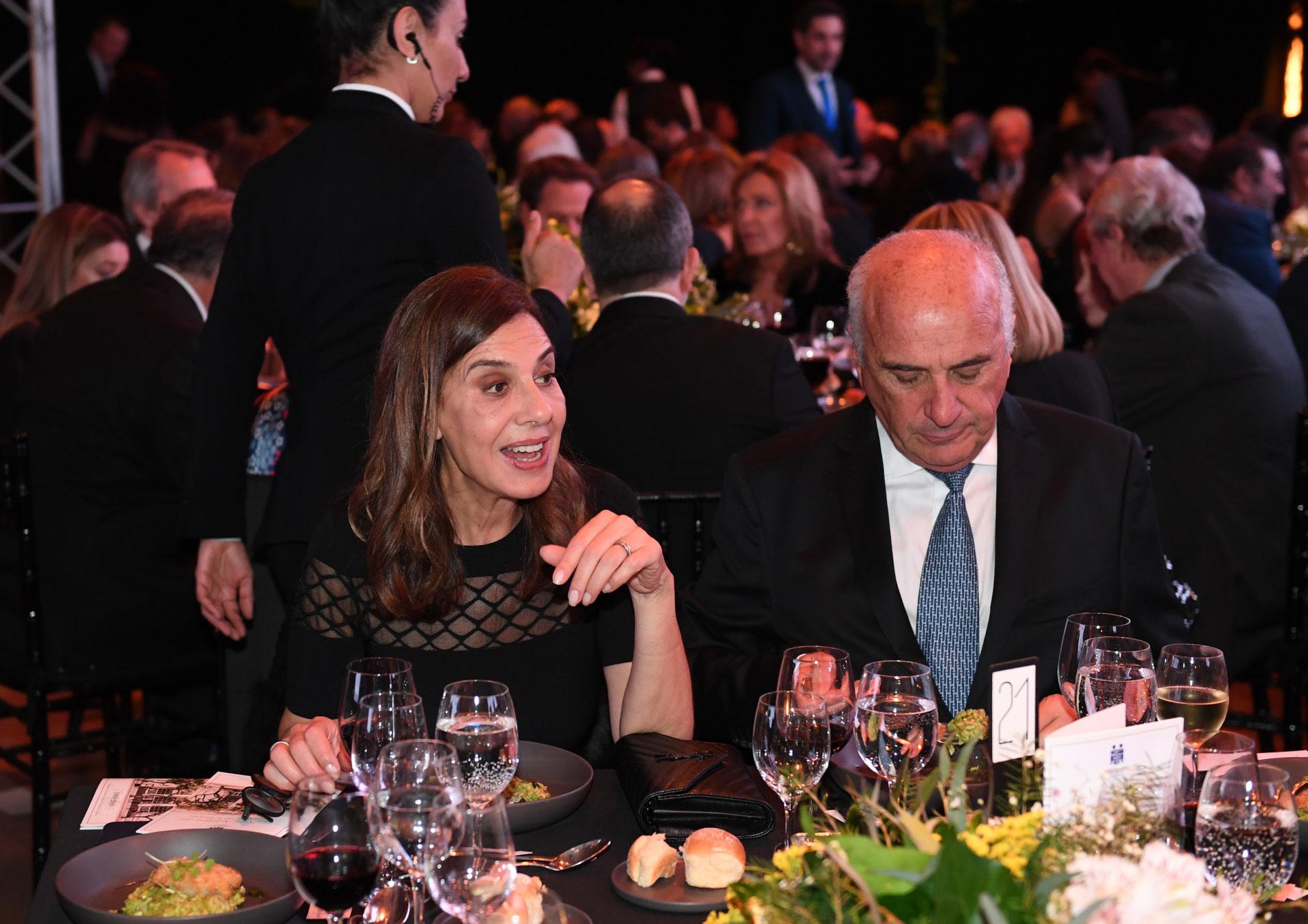 Zoraida Awada, una de las hermanas de la Primera Dama, y Alberto Rossi