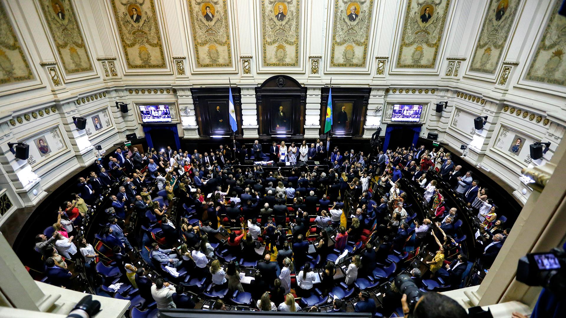 El recinto de la Cámara de Diputados de la provincia de Buenos Aires