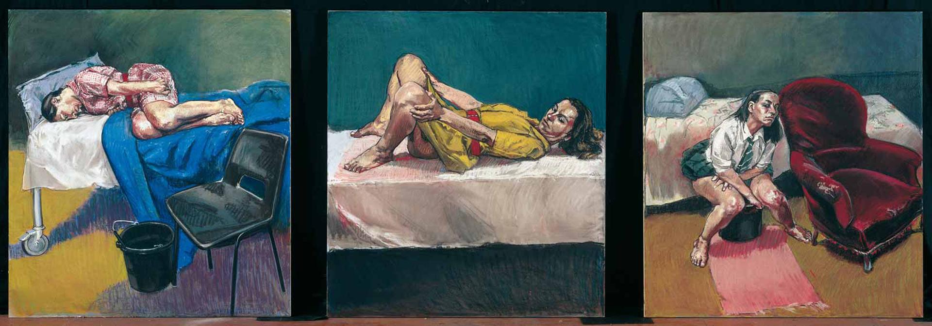 """El """"Triptico del aborto"""", de Paula Rego (1998)"""