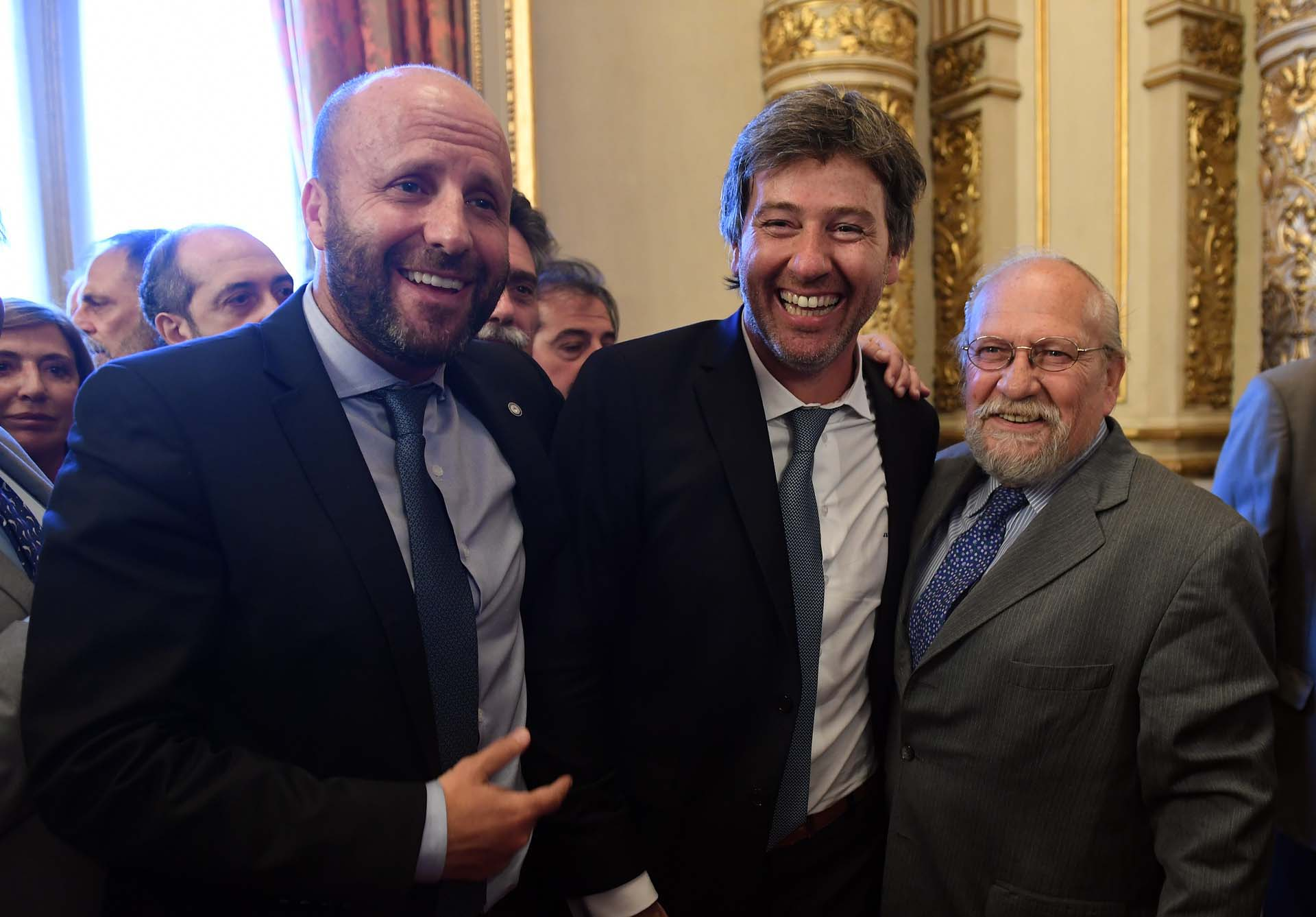 El camarista Mariano Borinsky, Juan Bautista Mahiques y el juez Luis Cabral.