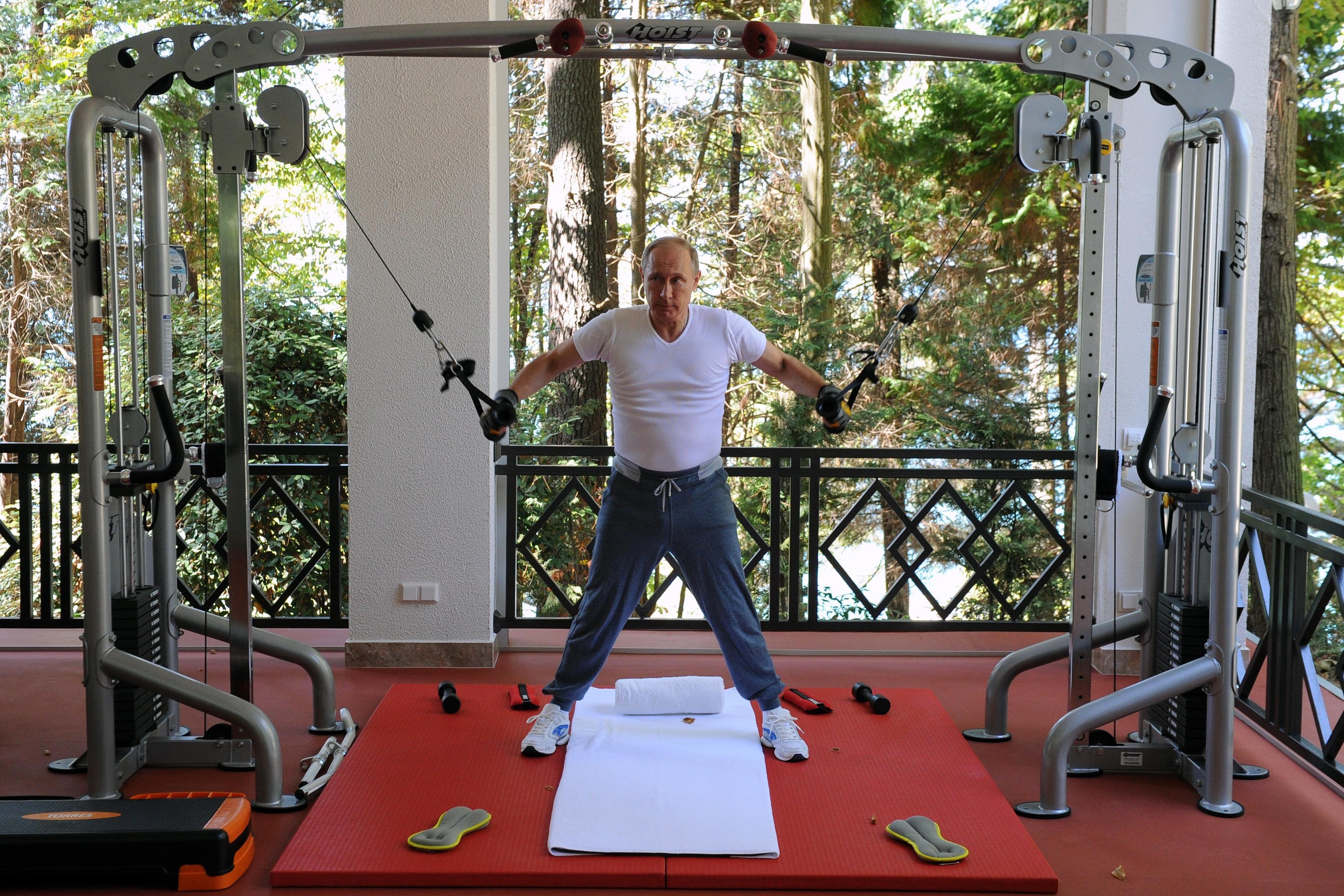 En otras ocasiones, Putin optó por exaltar su aparente vitalidad (AFP/archivo)