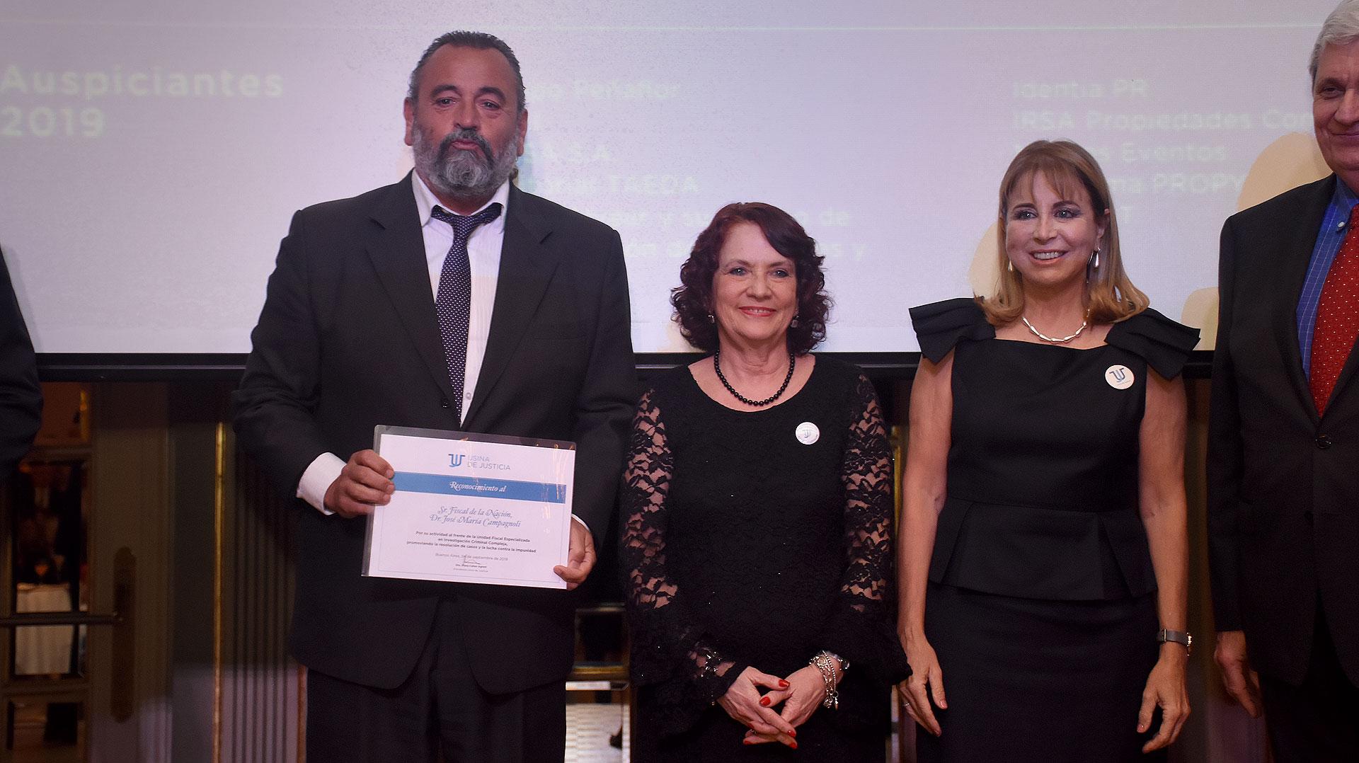 José Campagnoli fue reconocido por la promover la lucha por la investigación judicial de delitos no resueltos