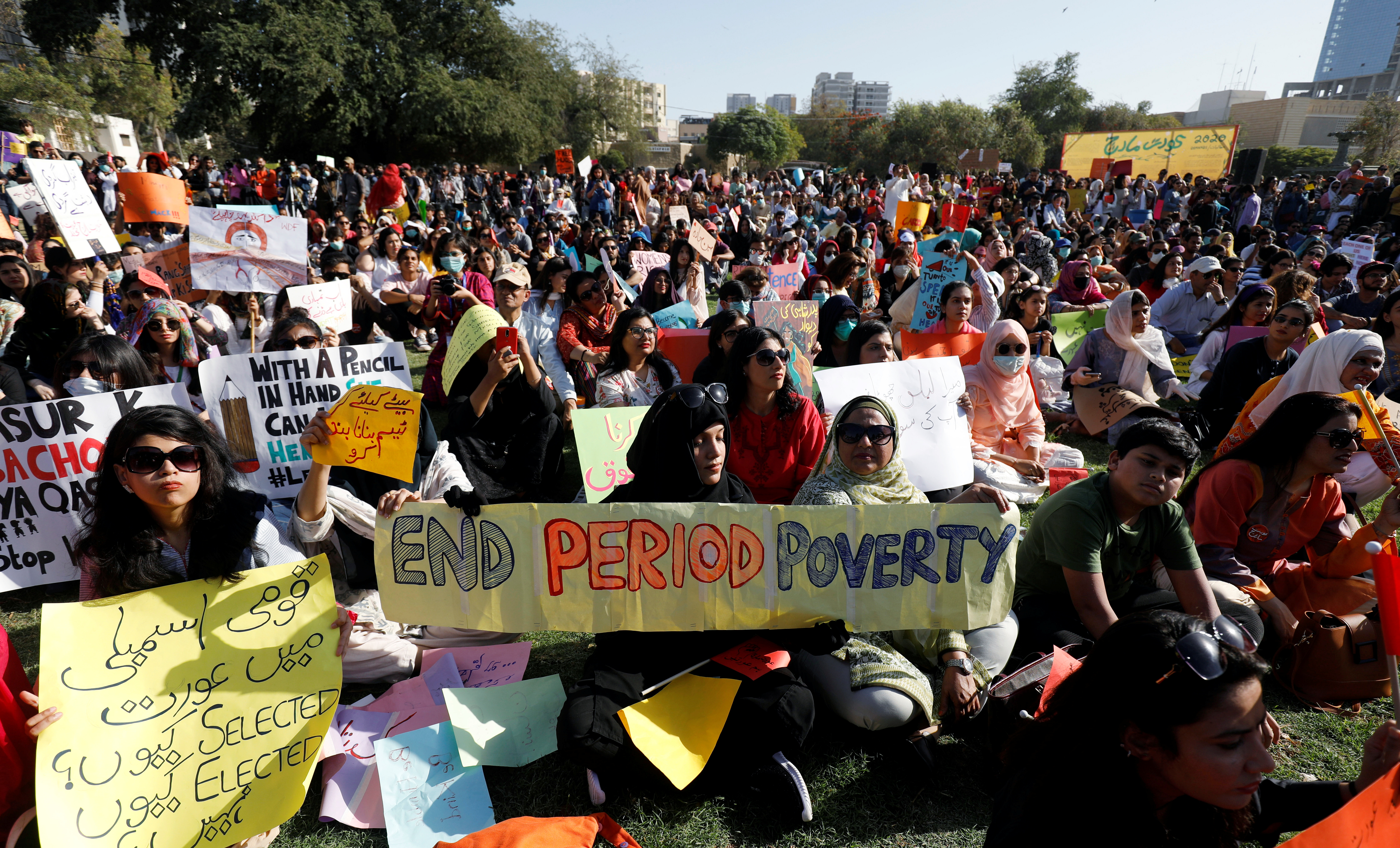 La marcha en Karachi, Pakistan (REUTERS/Akhtar Soomro)