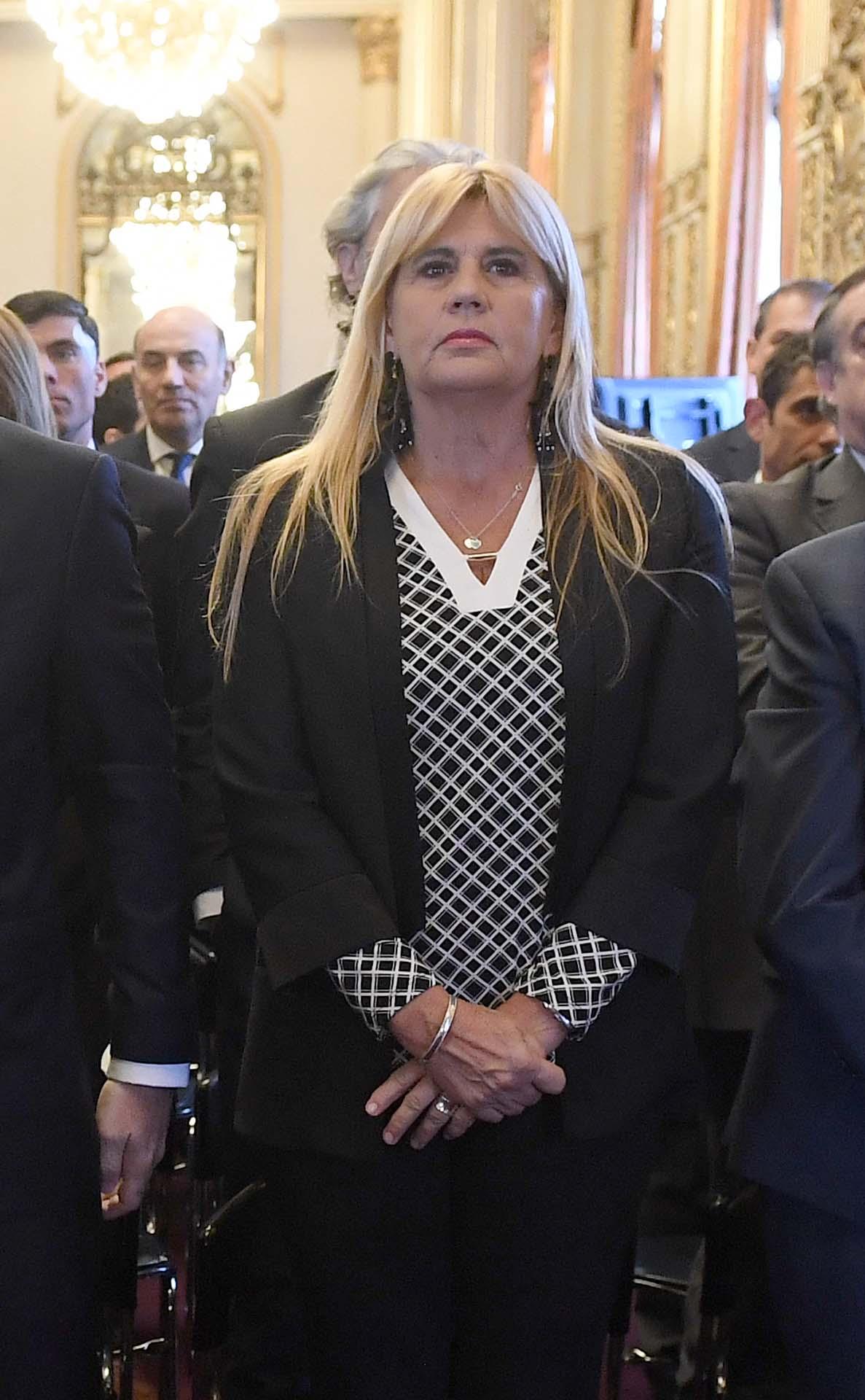 La abogada Marcelo Losardo y referente de Alberto Fernández en el área de Justicia, en primera fila.