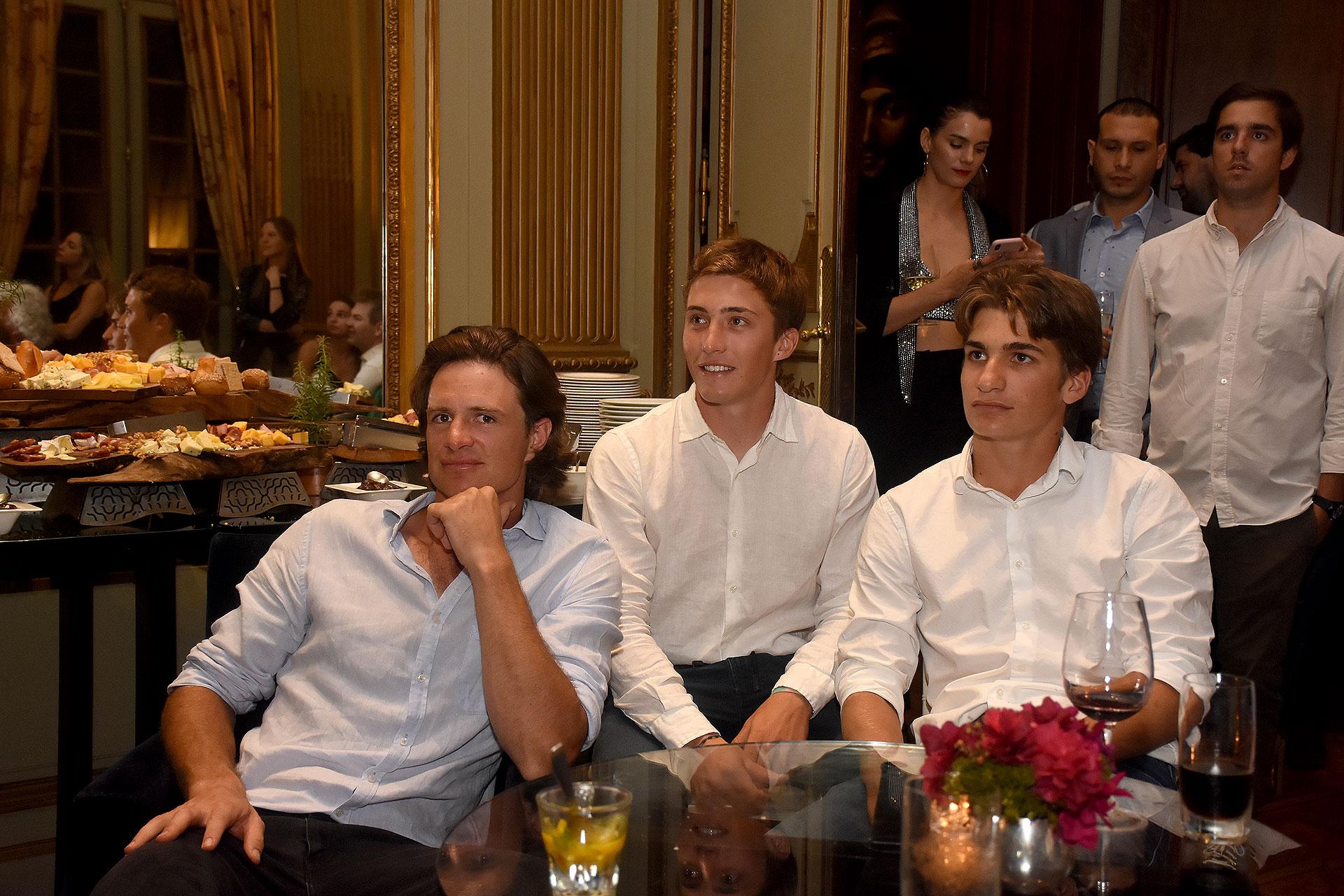 Ignatius Du Plessis junto a Bartolomé (h) y Camilo Castagnola