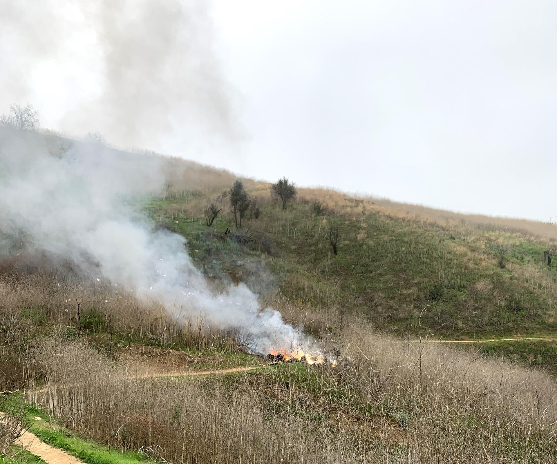 El fatal impacto se produjo contra la ladera de una colina en Calabasas, California (Grosby Group)