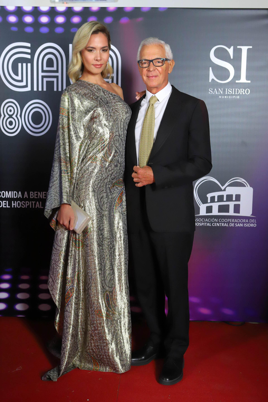 El empresario Eduardo Costantini y su pareja, Elina Fernández Fantacci