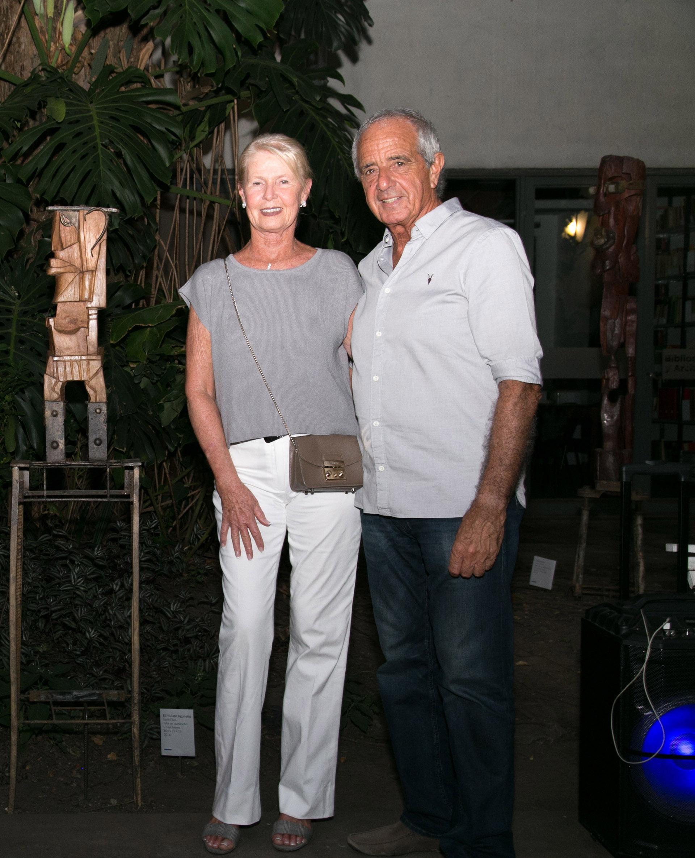 El presidente de River, Rodolfo D'Onofrio y su mujer Patricia