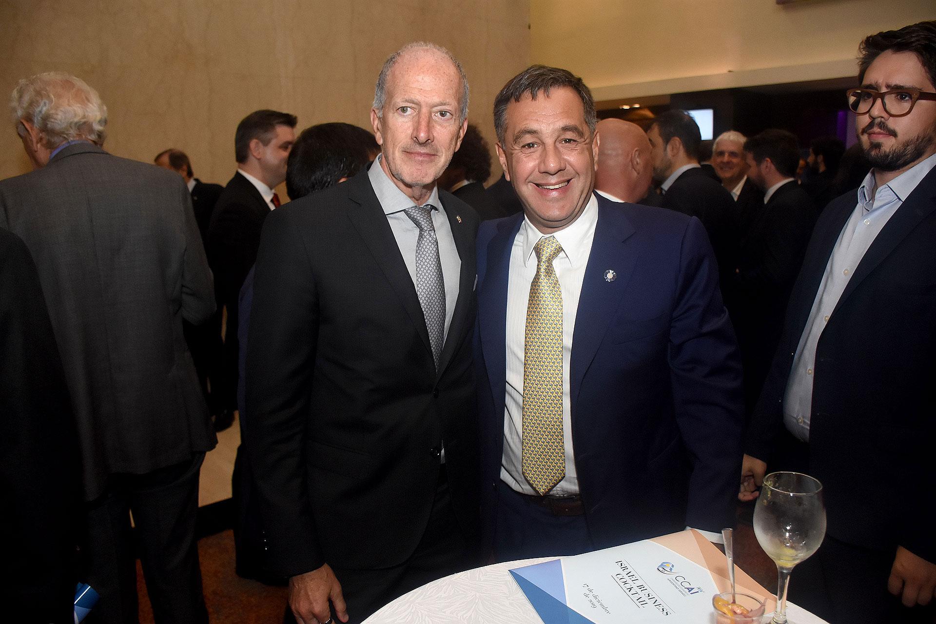 Jorge Knoblovits, presidente de la DAIA, y Alejandro Finocchiaro, ex ministro de Educación, Cultura, Ciencia y Tecnología
