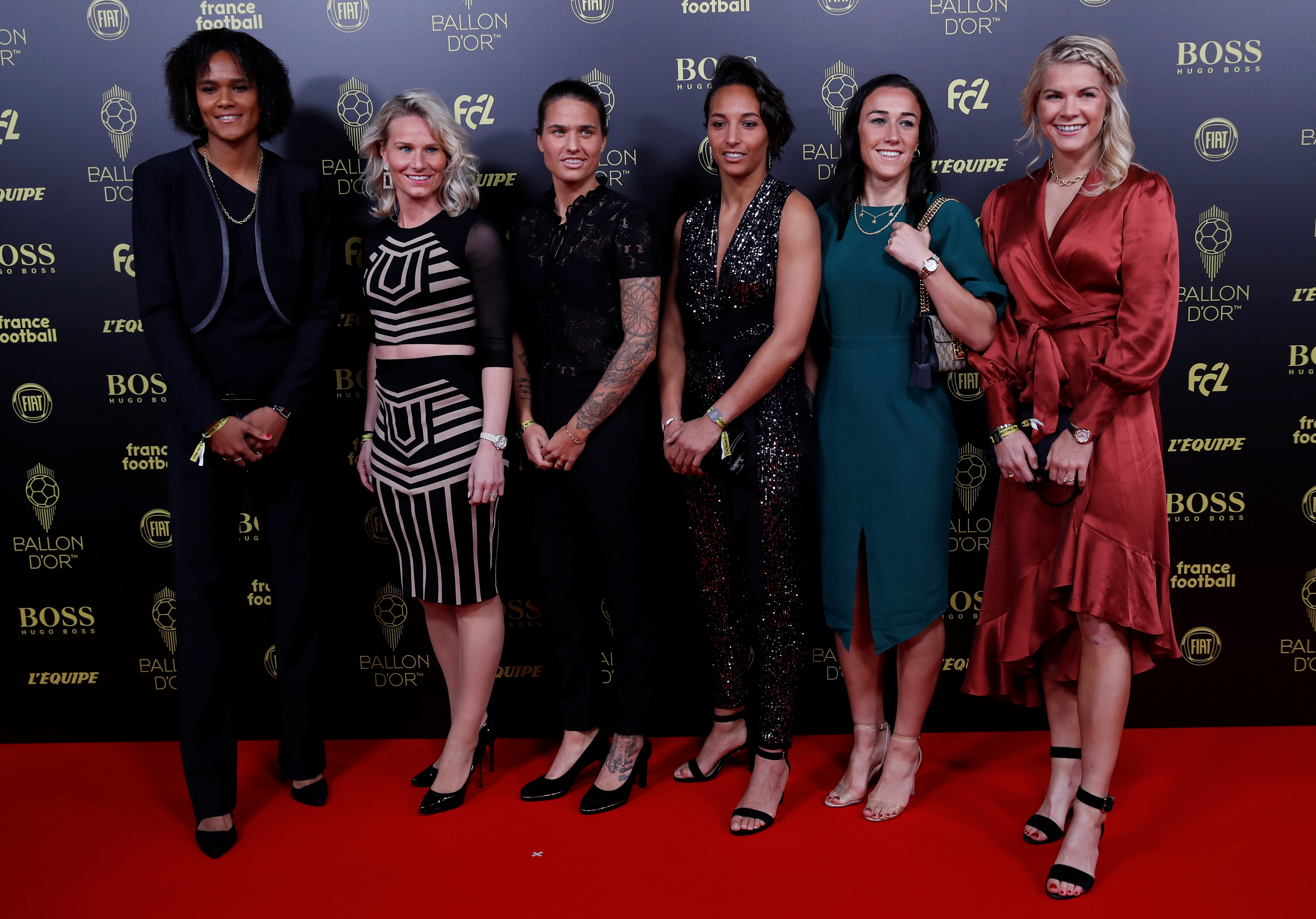 Las jugadoras del Olympique Lyonnais nominadas al Balón de Oro femenino