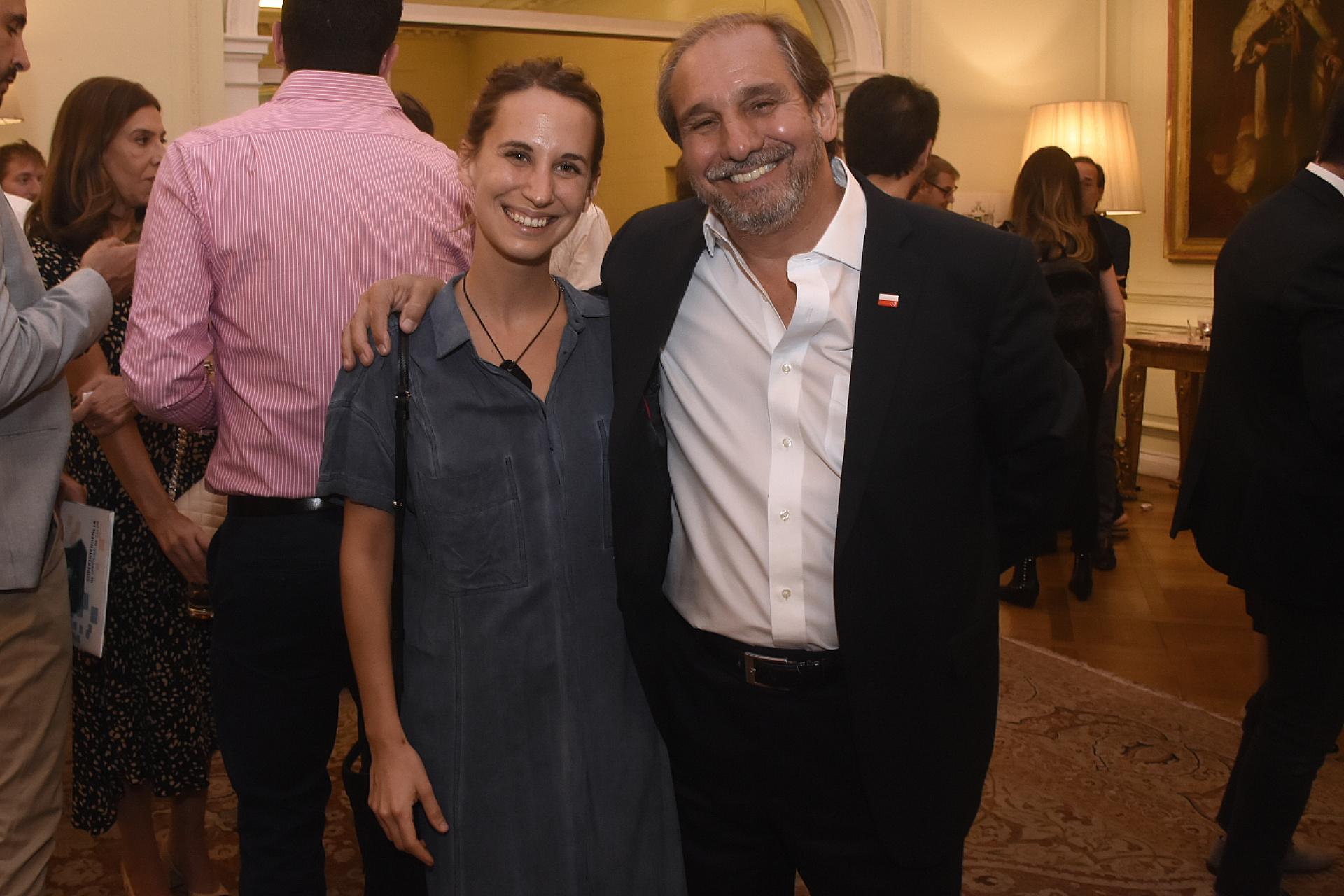 Nicolás Caputo y su hija Marina