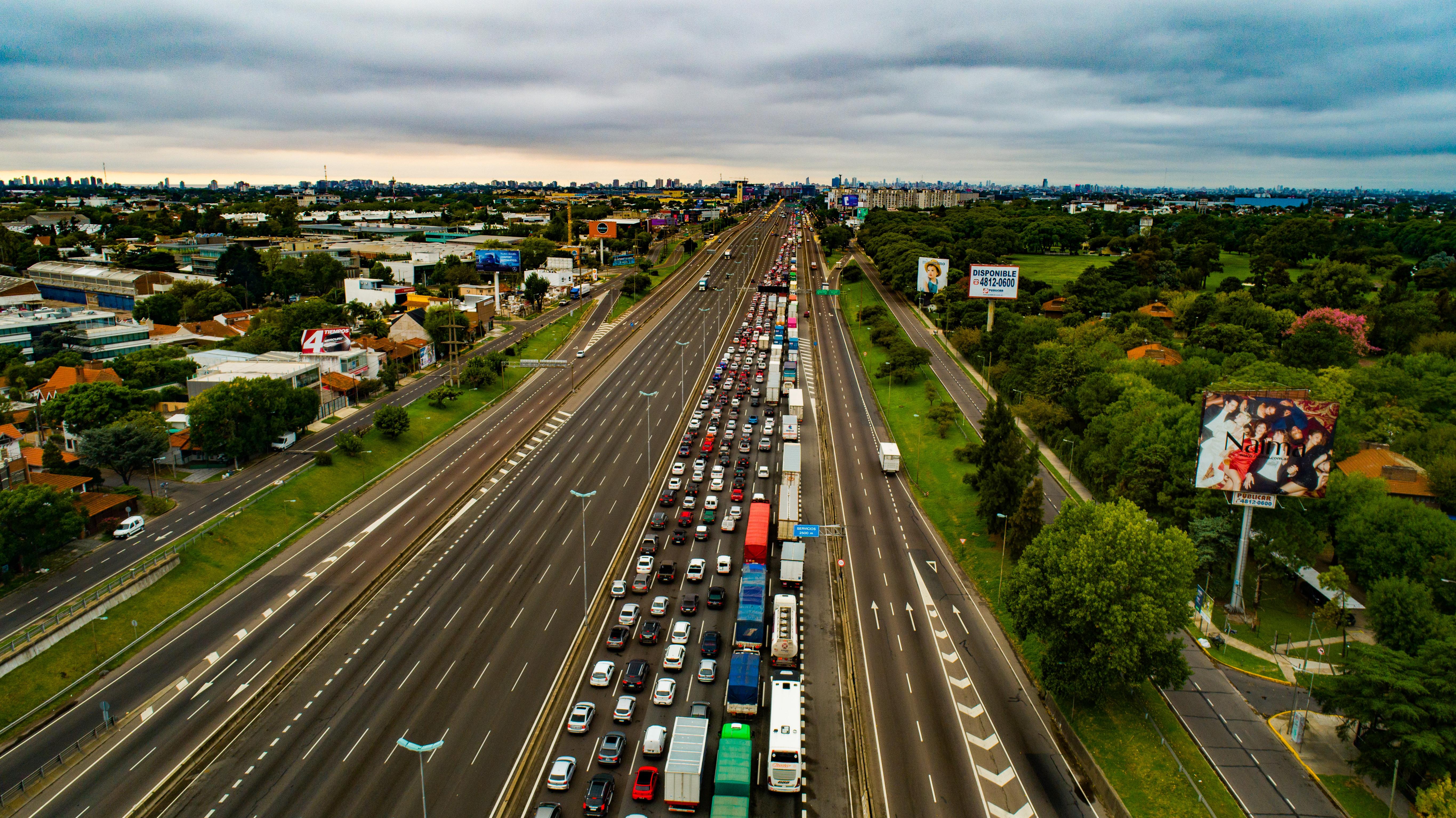 La Panamericana con más de 5 kilómetros de congestión por los nuevos controles en los accesos a la Ciudad de Buenos Aires