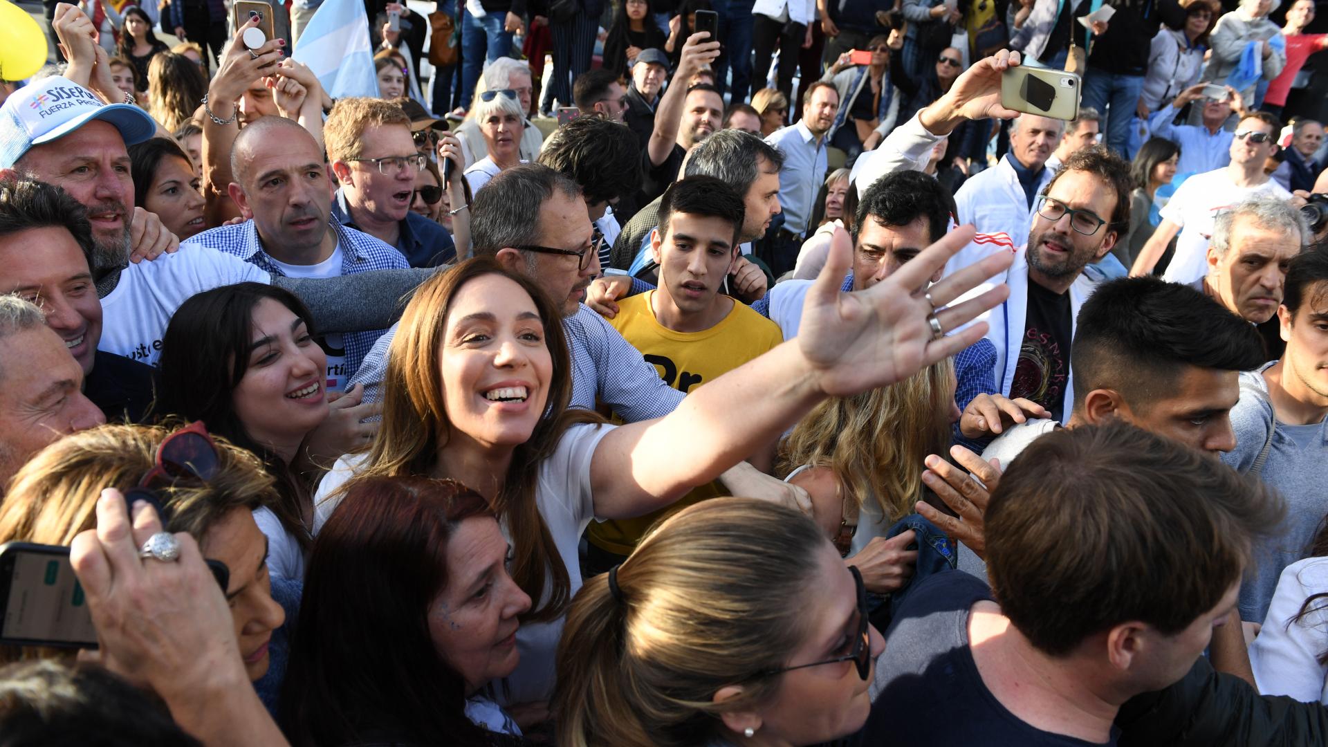 La gobernadora de la provincia de Buenos Aires, María Eugenia Vidal, en la Marcha del Millón