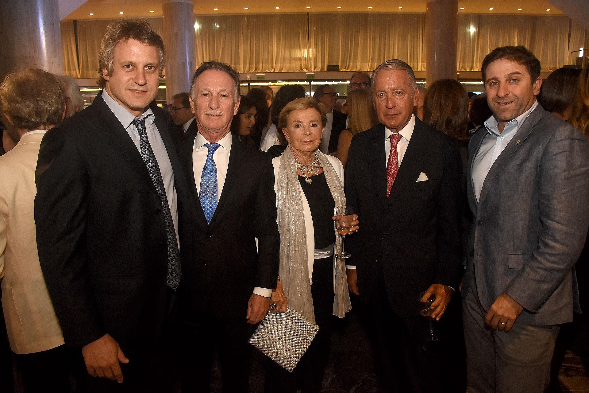 Felipe Miguel, Gustavo Weiss, Daniel Funes de Rioja (presidente de la COPAL) y Fernando Straface