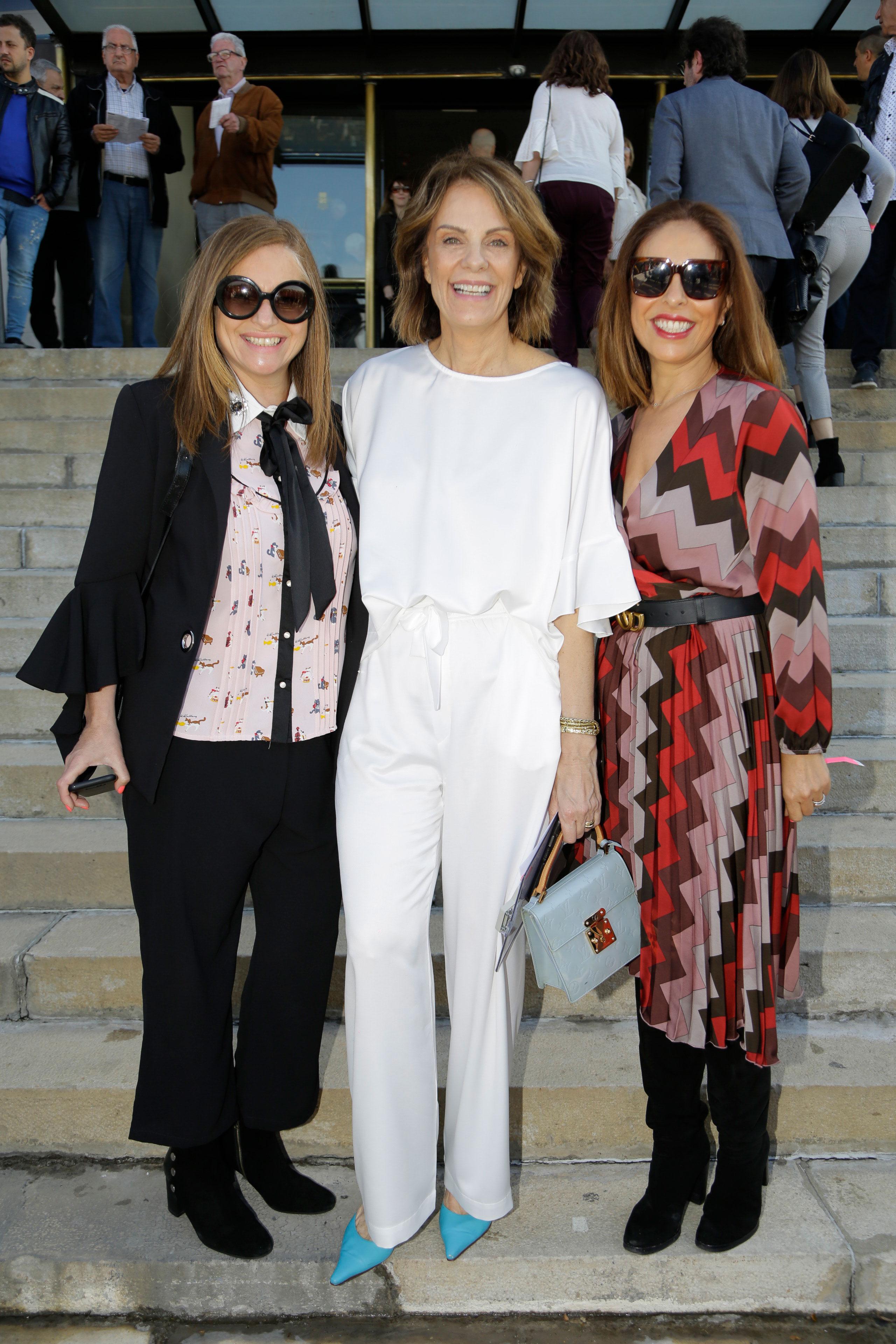 Gabriela Vidal, productora general del evento, junto a Nequi Galotti y Rosana Bertone