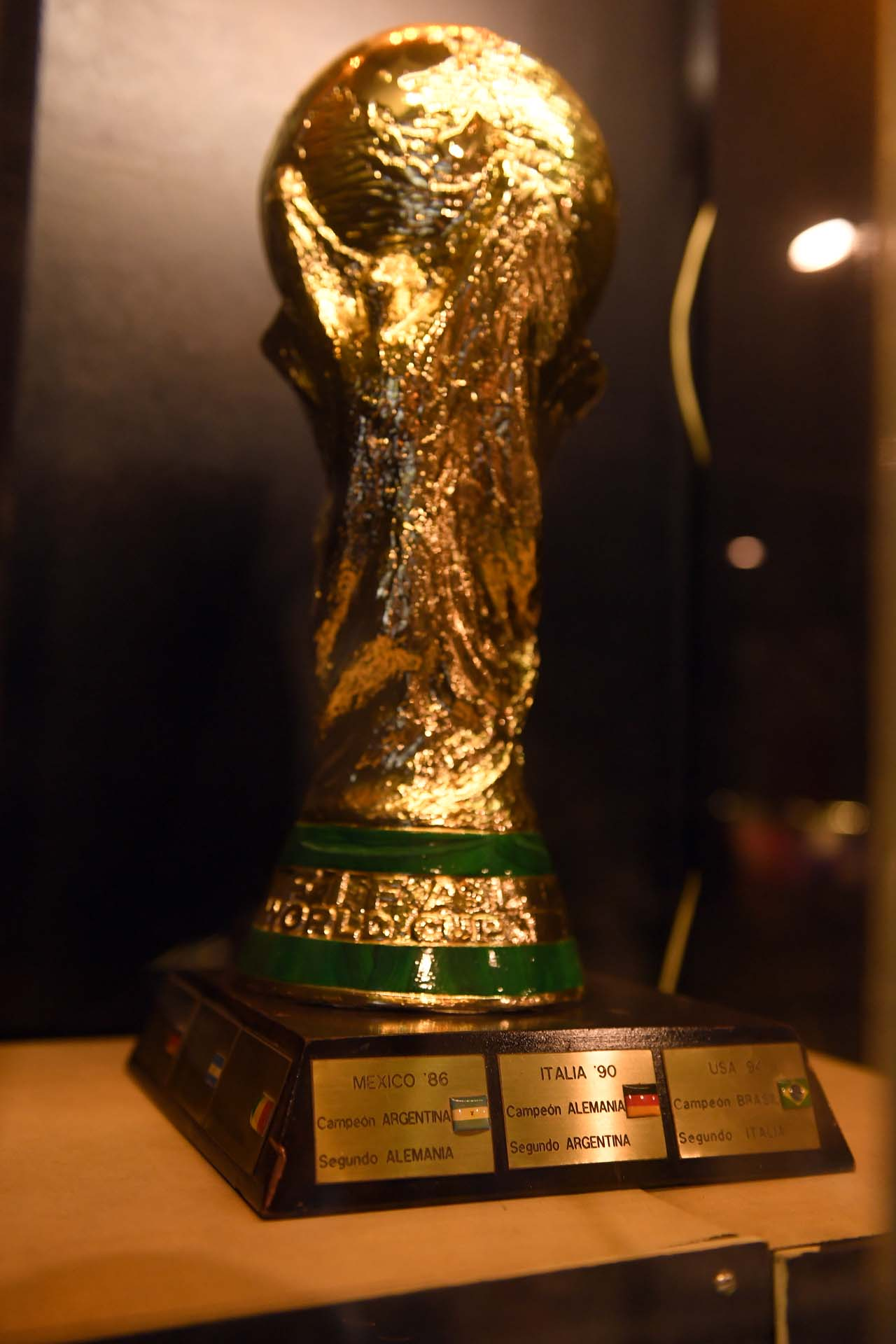 Réplica del trofeo de la Copa del Mundo que reemplazó al Jules Rimet (Maximiliano Luna)