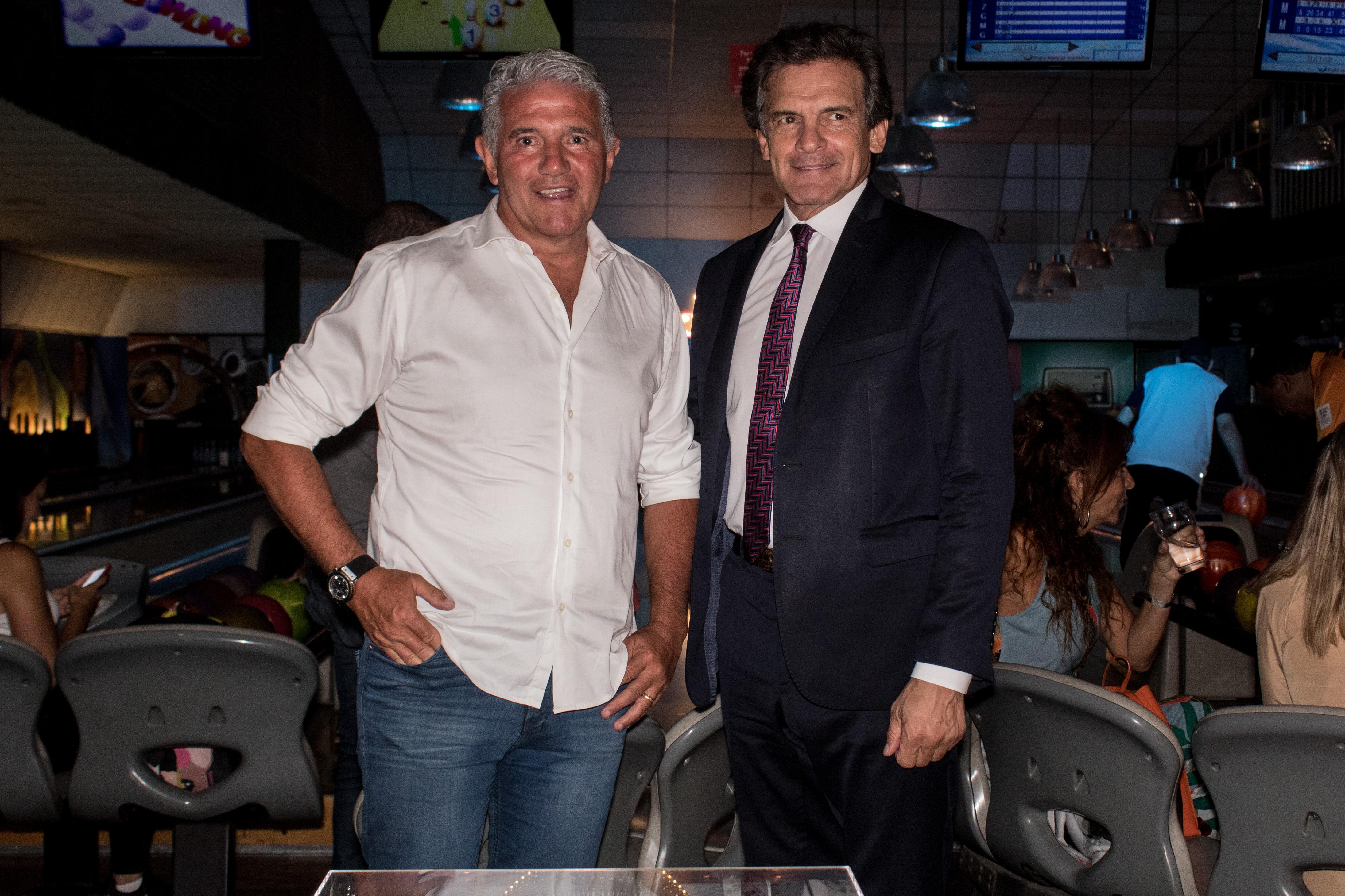 Jorge Burruchaga y Claudio Rígoli