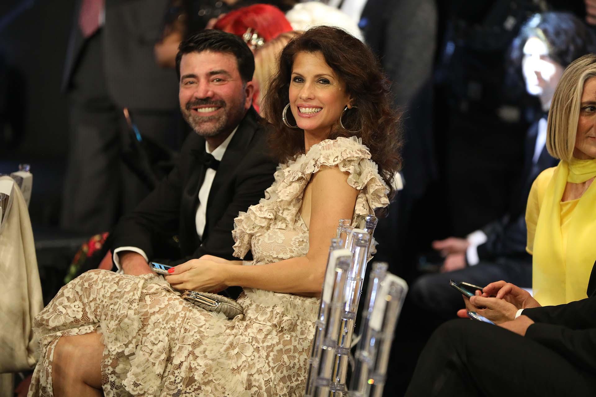 Analía Maiorana también fue sin su marido, el vicejefe de Gobierno de la Ciudad de Buenos Aires Diego Santilli. La acompañó el diseñador Javier Saiach quien fue el encargado de realizar el espectacular vestido que la ex modelo lució en el Tattersall