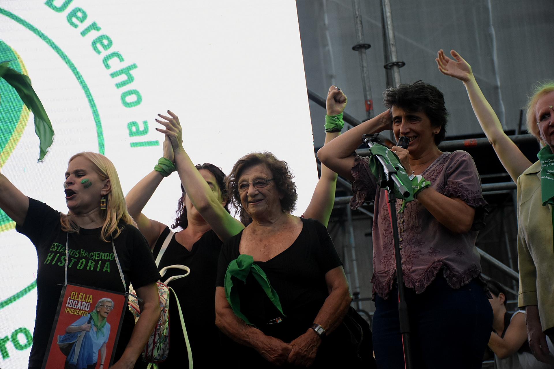El reclamo por el aborto legal se mantuvo desde que fue anunciado el primer debate sobre la ley