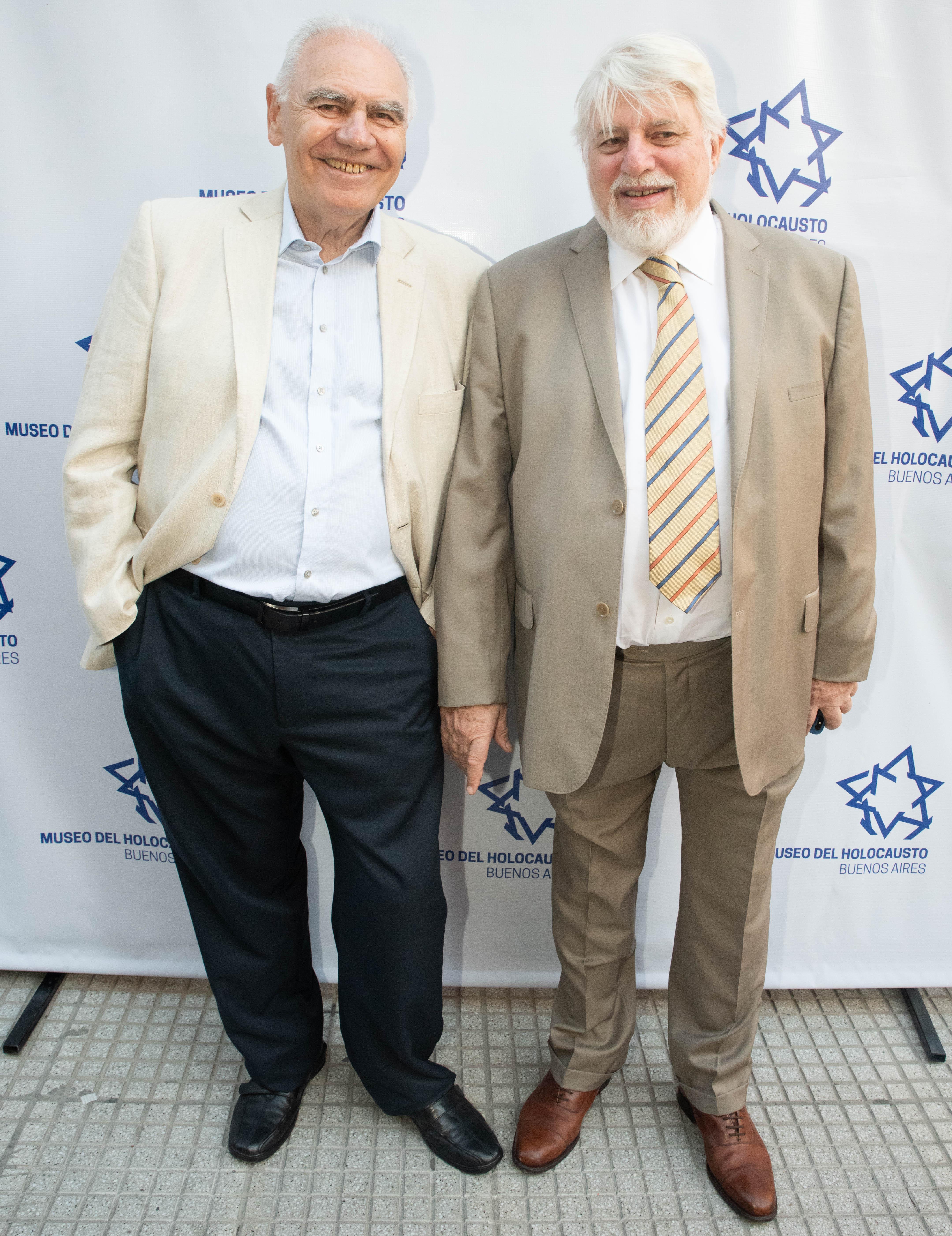 Enrique Klein, vicepresidente del Templo Libertad y Adrián Werthein, oresidente del Congreso Judío Latinoamericano