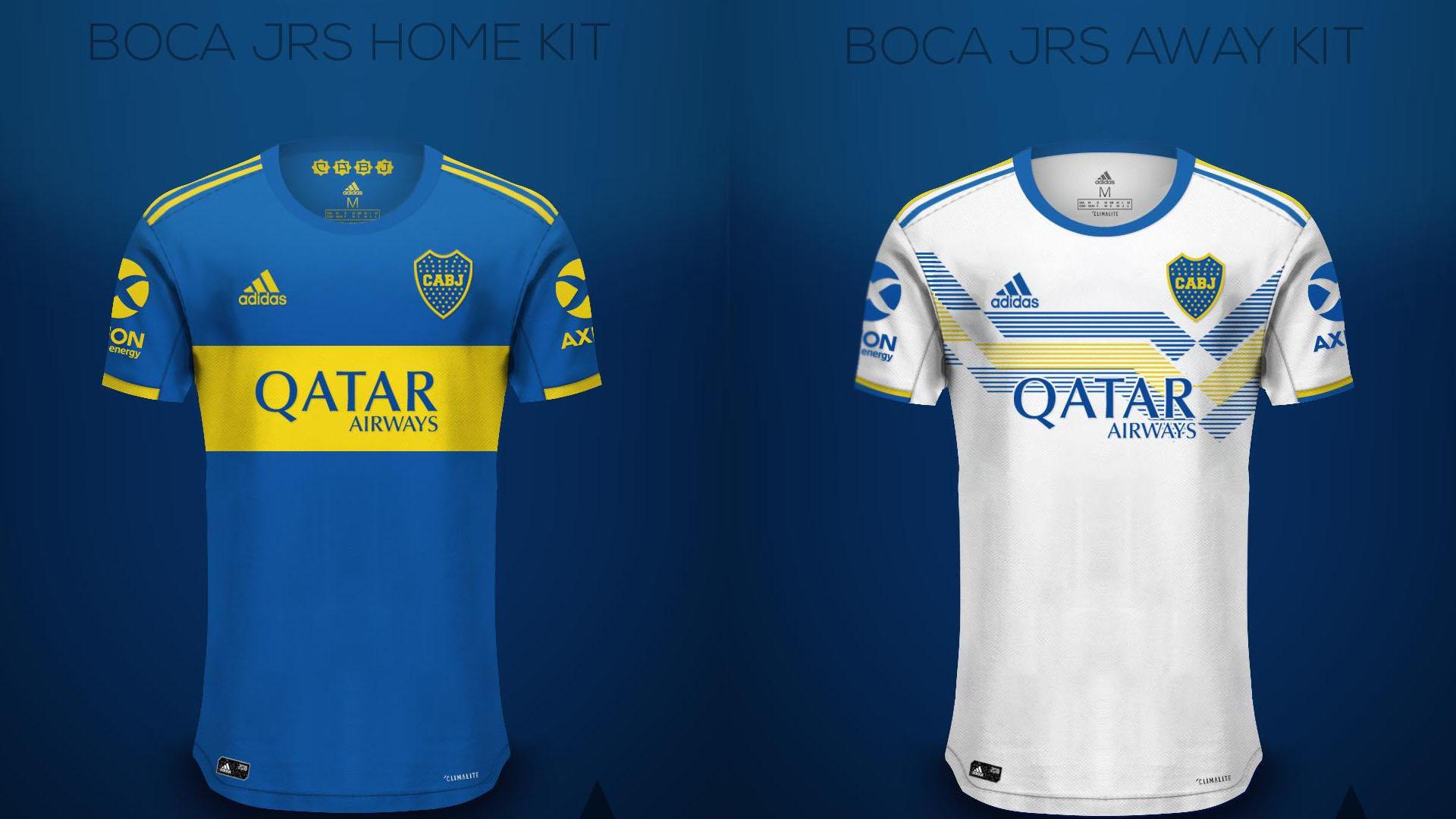 Así serían las camisetas de Boca en 2020 tras el cambio de ...