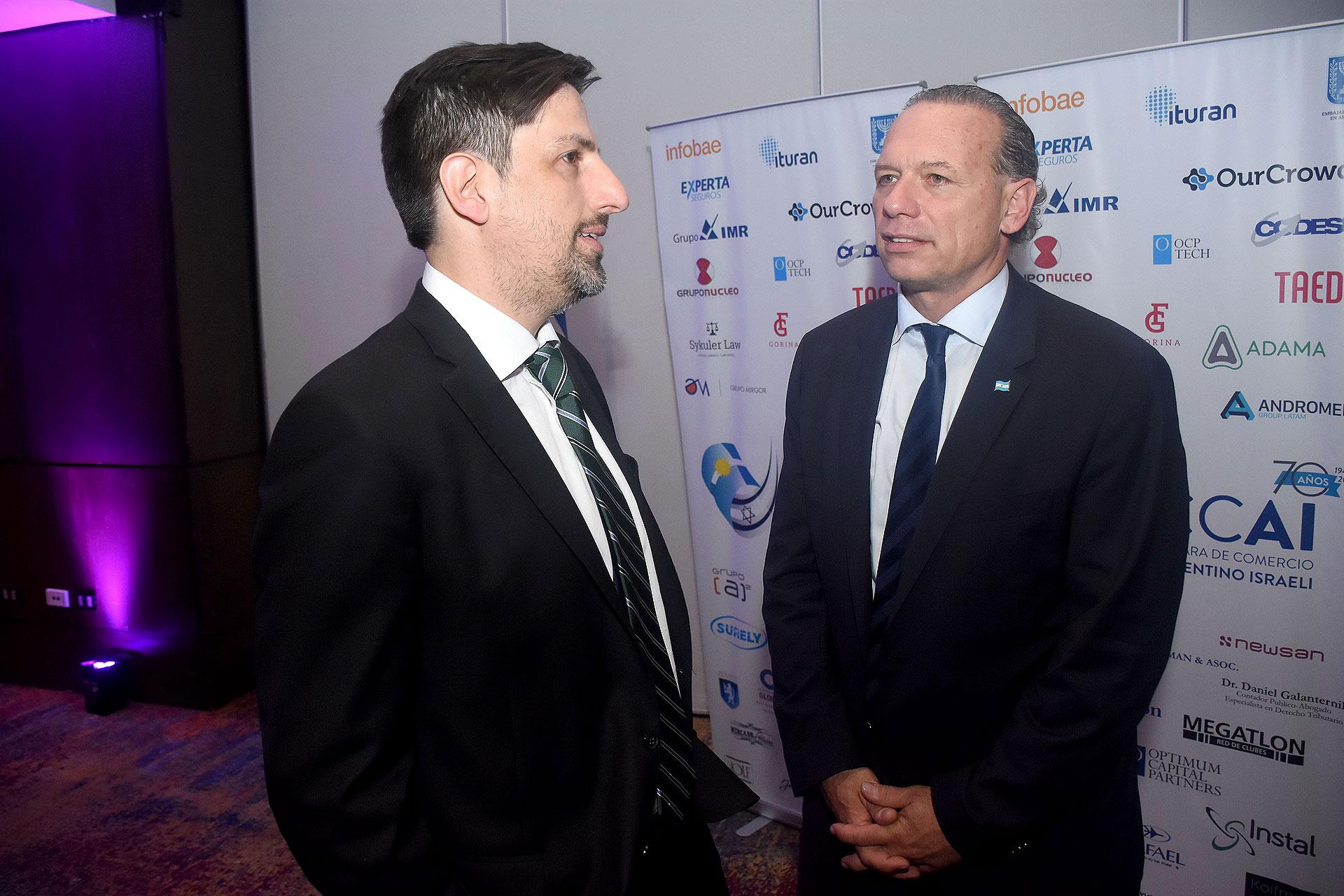 Los ministros Nicolás Trotta y Sergio Berni