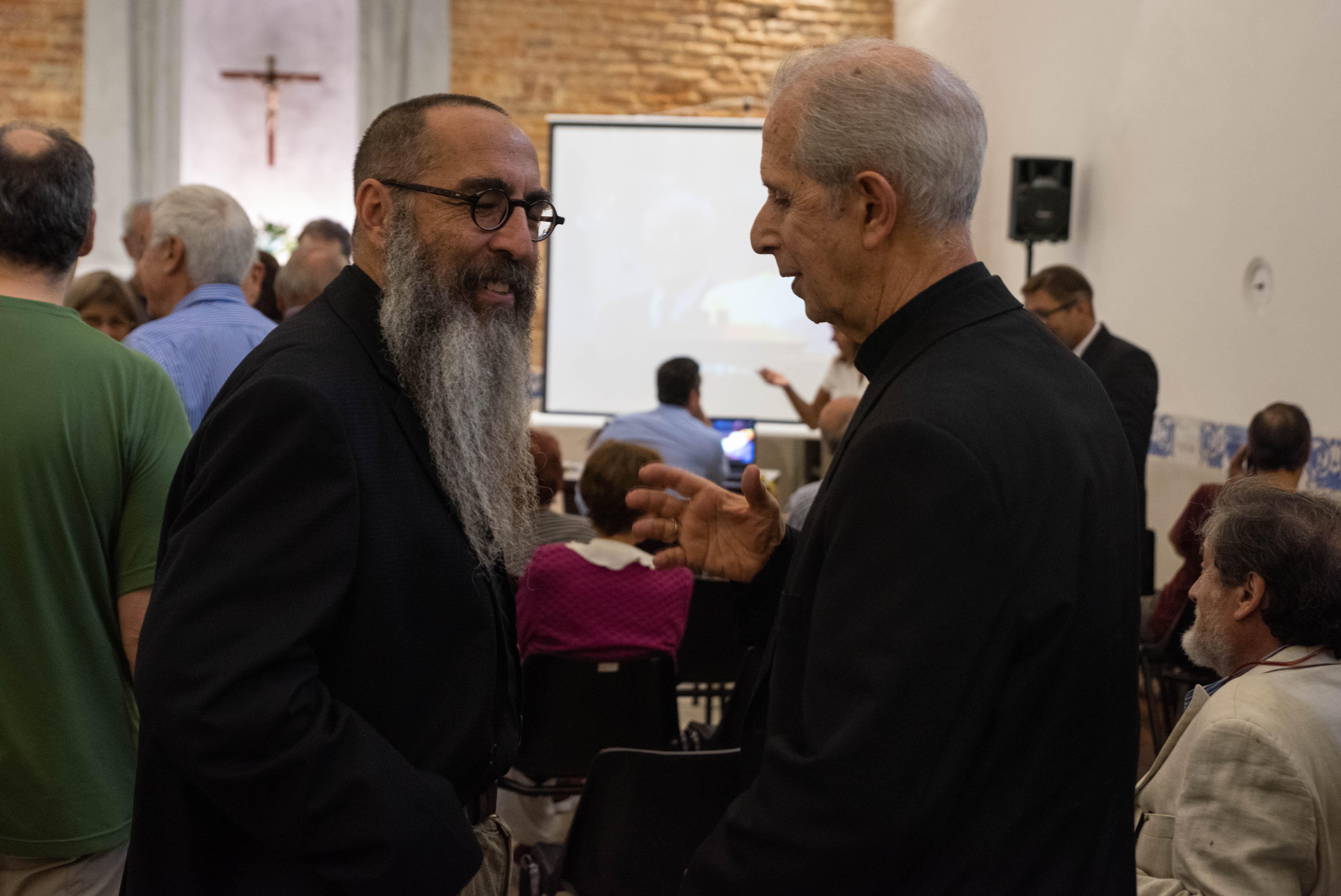 El rabino Daniel Goldman junto al arzobispo de Buenos Aires, cardenal Mario Poli.