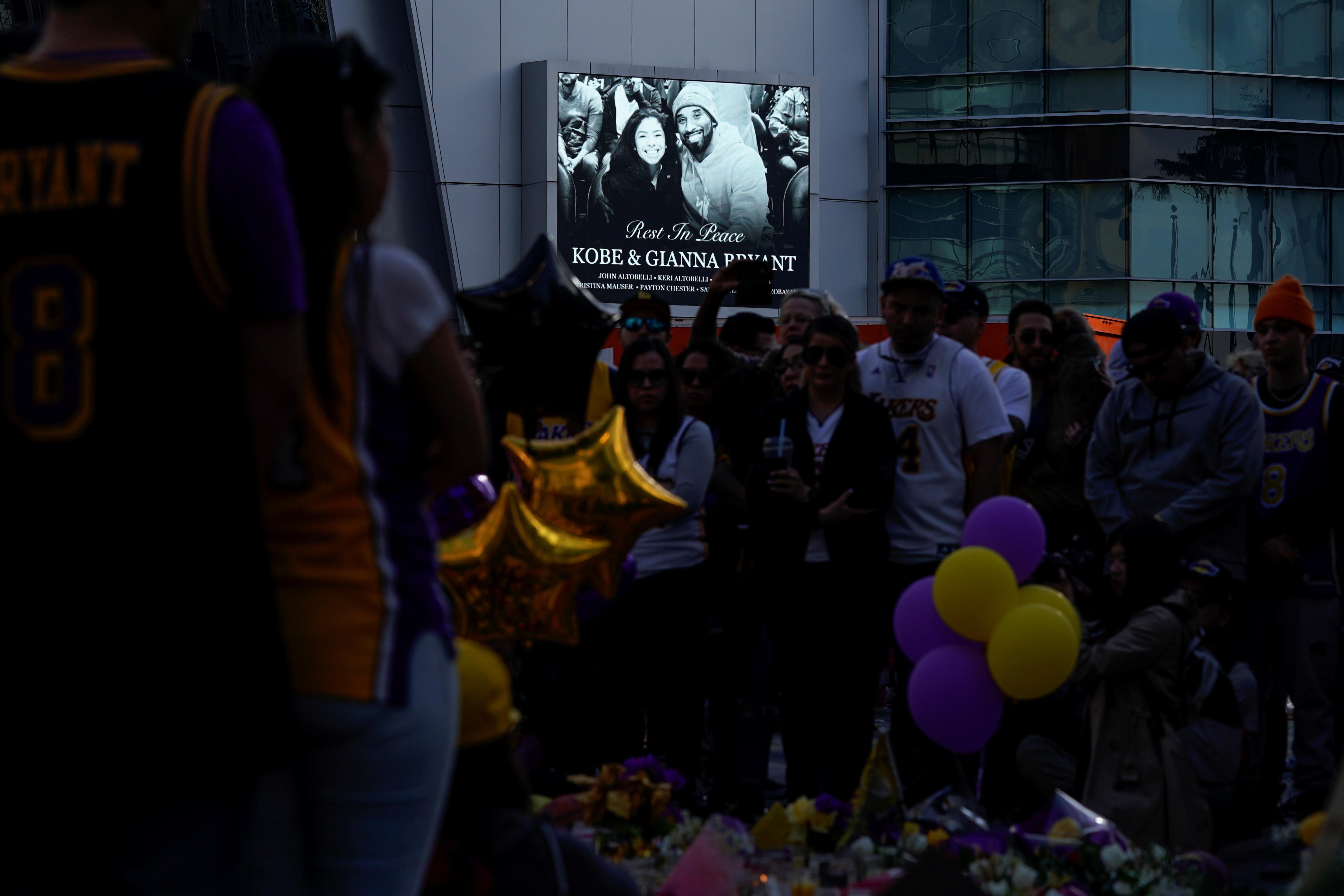 Bryant murió el domingo cuando el helicóptero en el que viajaba junto a su hija de 13 años y otras siete personas se estrelló a las afueras de Los Ángeles