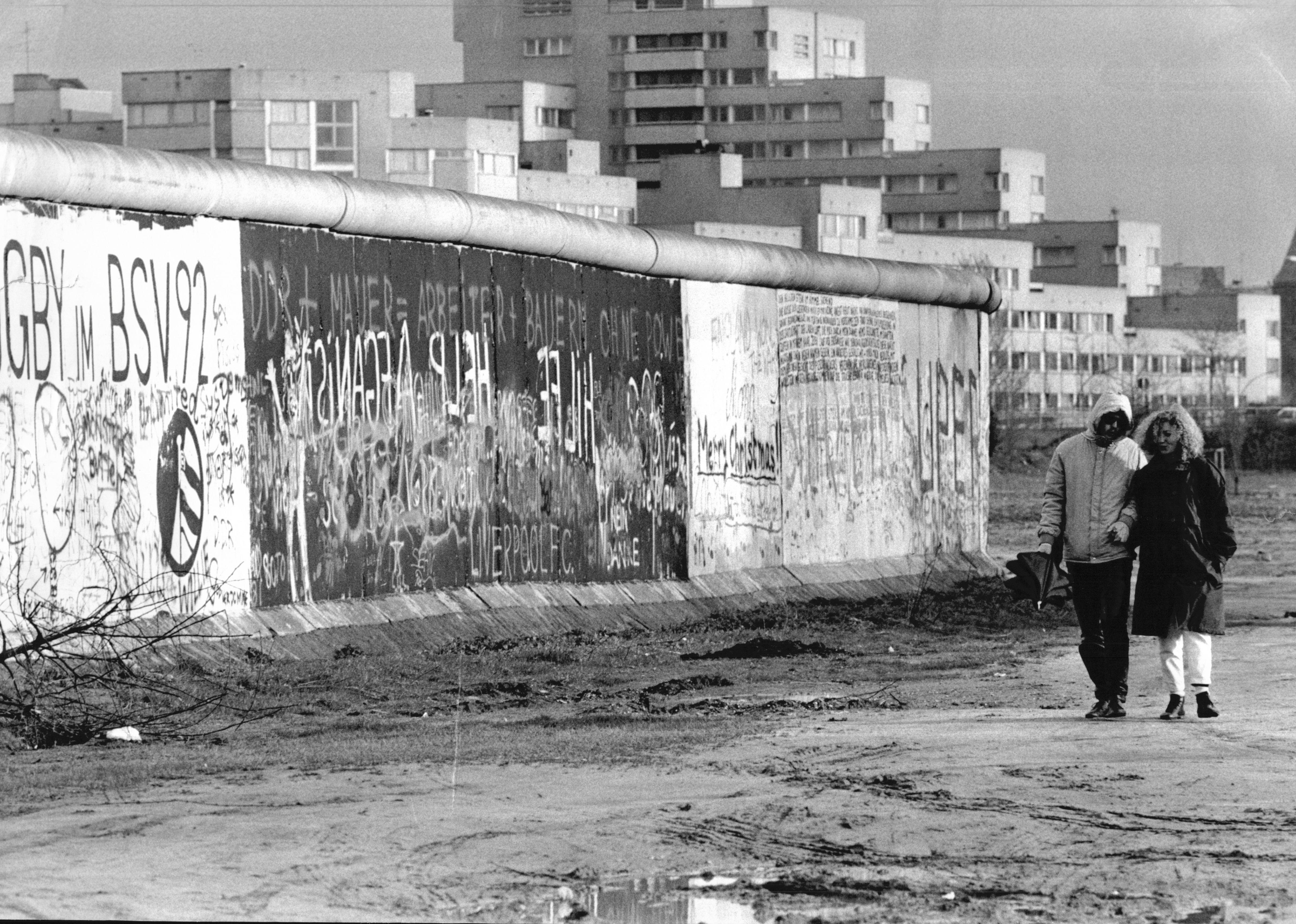 EL Muro de Berlín en 1985