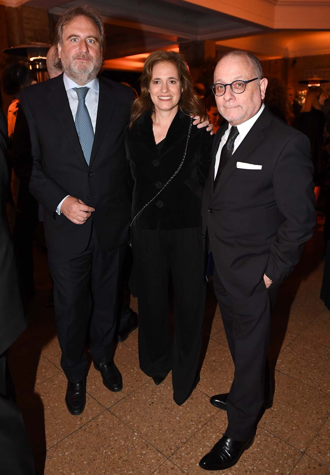 Tato Lanusse y Silvina Pueyrredon, prosecretaria de la Fundación, junto al Canciller, Jorge Faurie