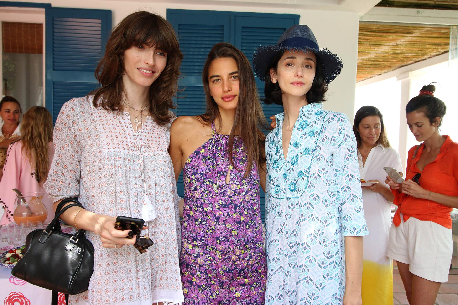 Las modelos Dafne Cejas, Azul González Aparicio y Cecilia Méndez