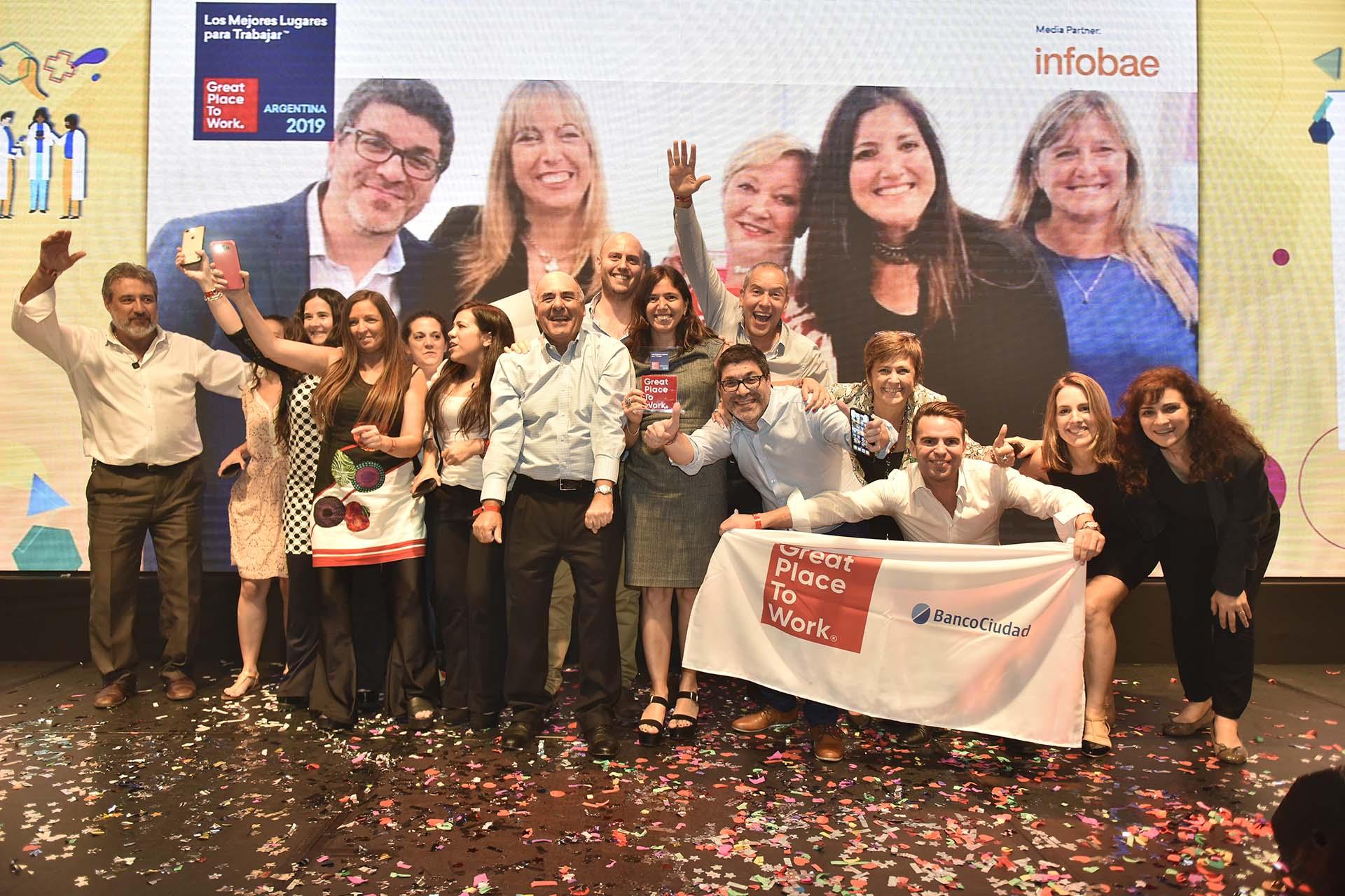 El Banco Ciudad entró en el ranking de la categoría de los mil colaboradores