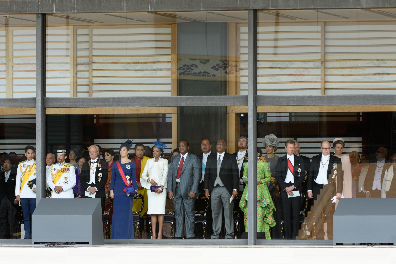 Dignatarios extranjeros y representantes del gobierno asisten a la ceremonia de entronización del emperador japonés Naruhito (AFP)