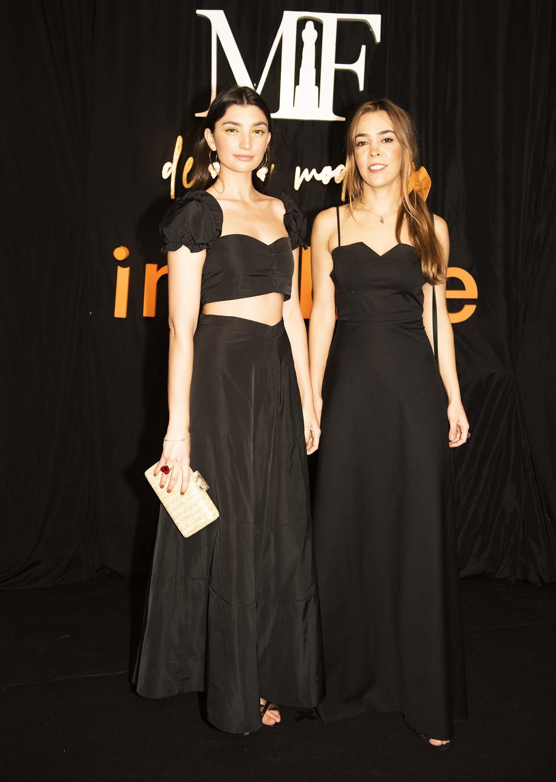 Paloma Cepeda junto con su socia Francisca López León representando a su marca FP, en la terna nuevo talento